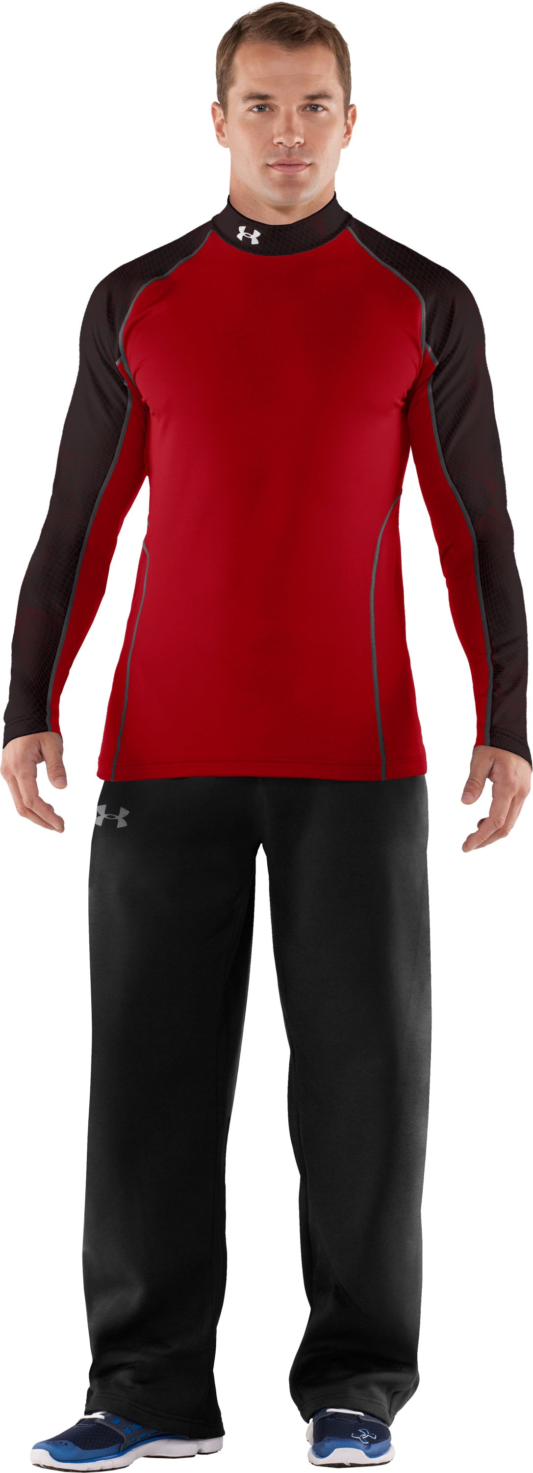 Men's UA Competition Fitted Baselayer Mock, Red, Front
