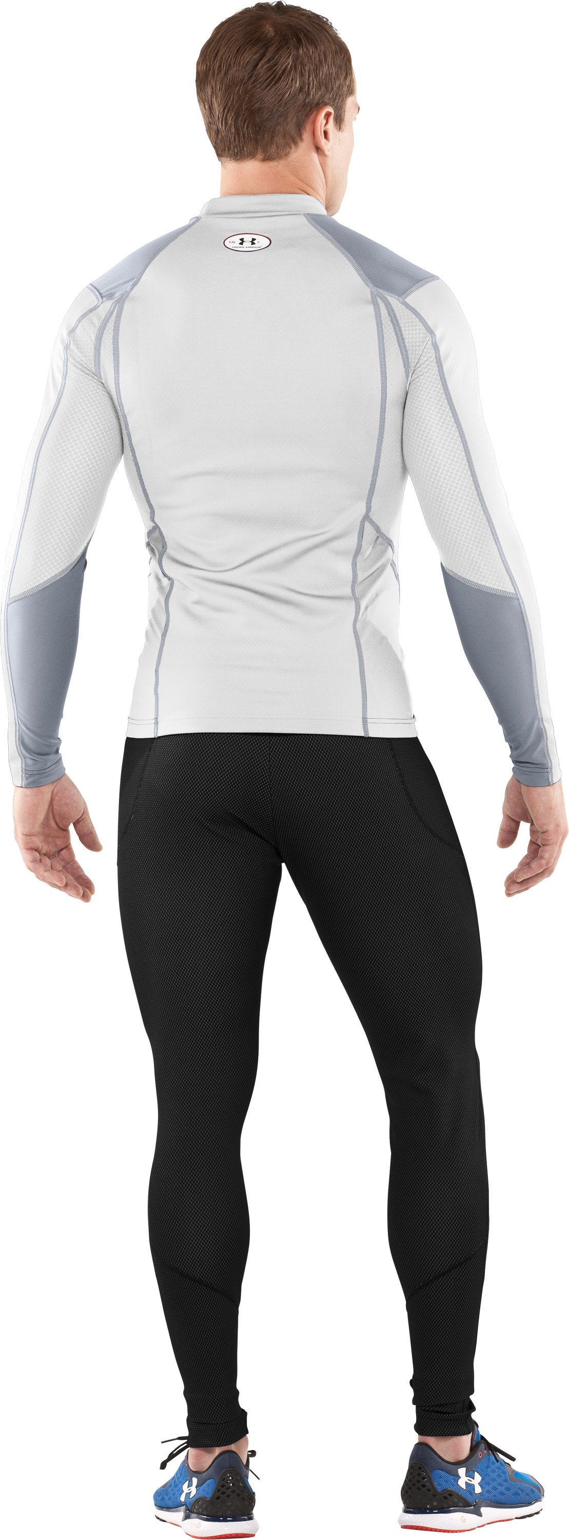 Men's ColdGear® Thermo Wind Block Long Sleeve, White, Back