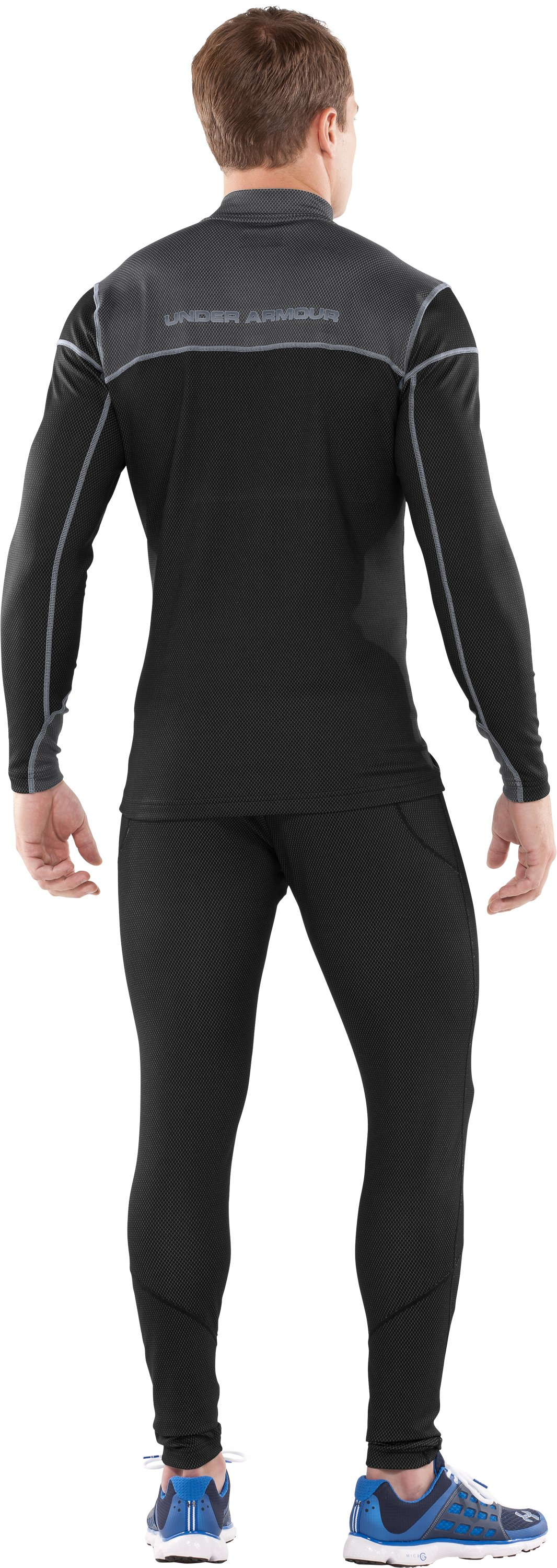 Men's ColdGear® Thermo ¼ Zip, Black , Back
