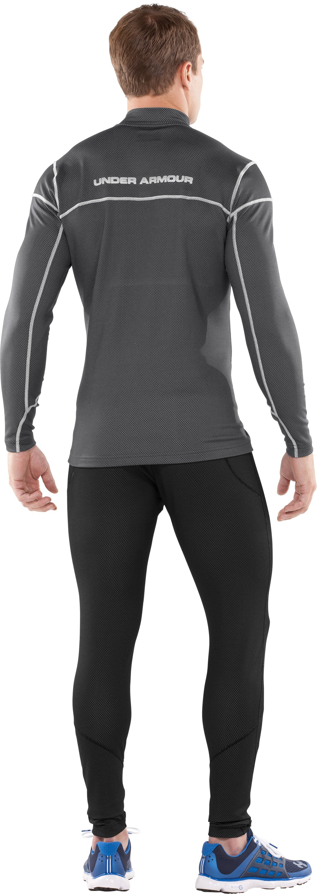 Men's ColdGear® Thermo ¼ Zip, Graphite, Back