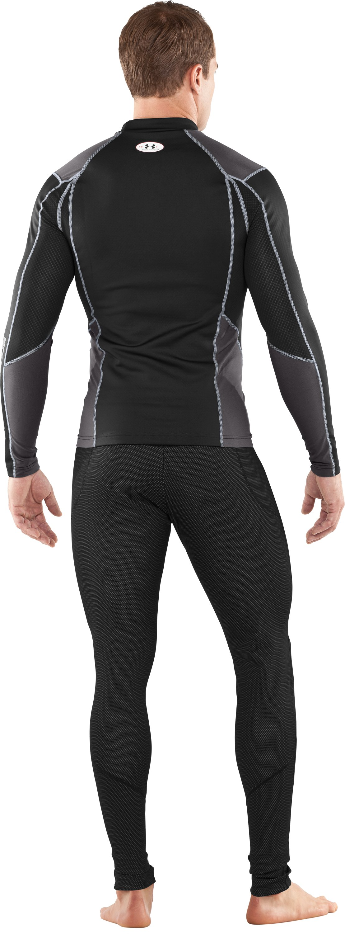Men's ColdGear® Thermo Baselayer Leggings, Black , Back