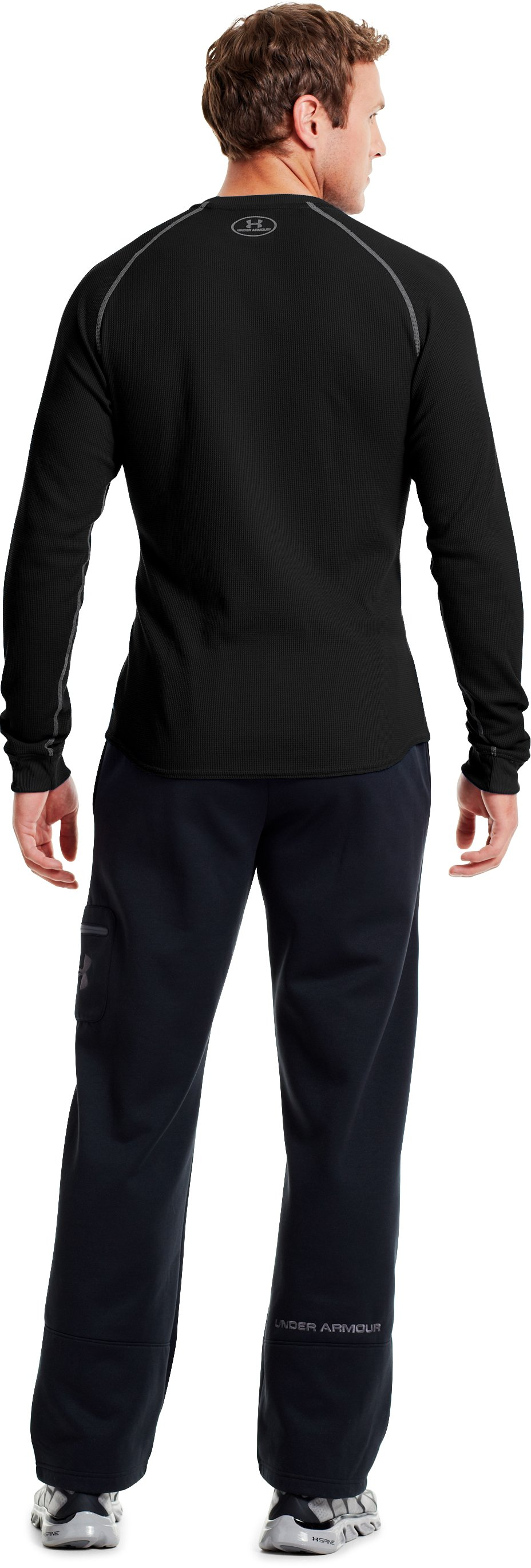 Men's UA Thermal 2.0 Crew Shirt, Black , Back