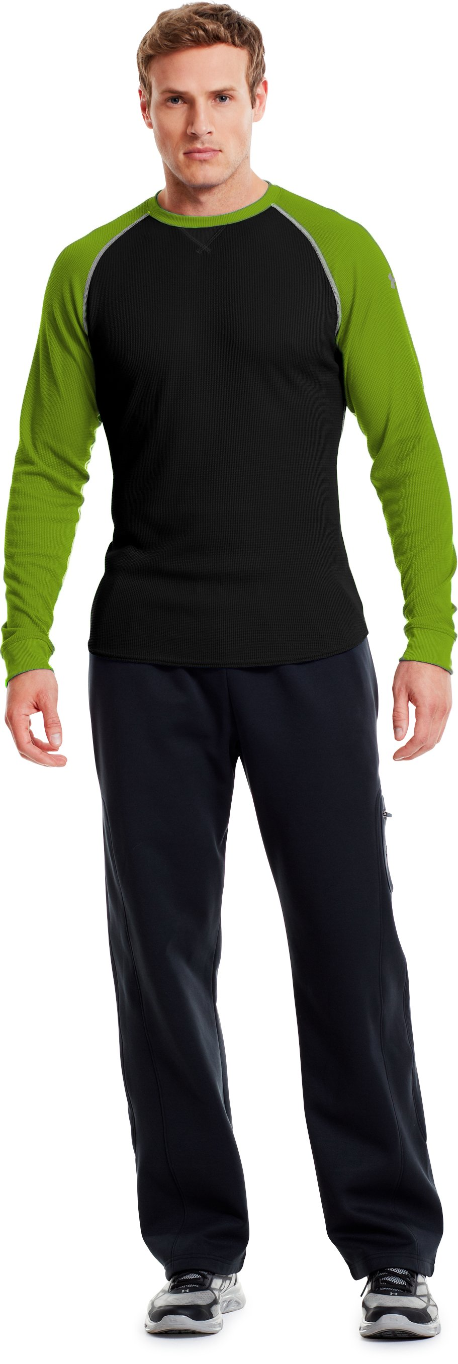 Men's UA Thermal 2.0 Crew Shirt, Black , zoomed image