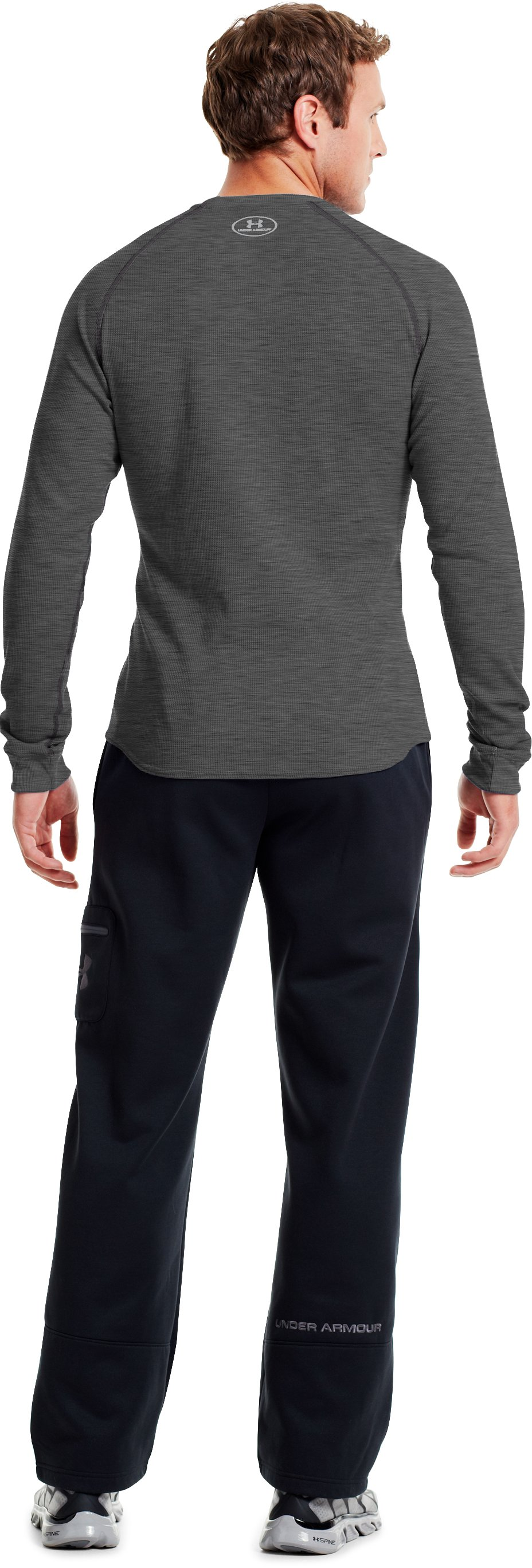 Men's UA Thermal 2.0 Crew Shirt, Carbon Heather, Back