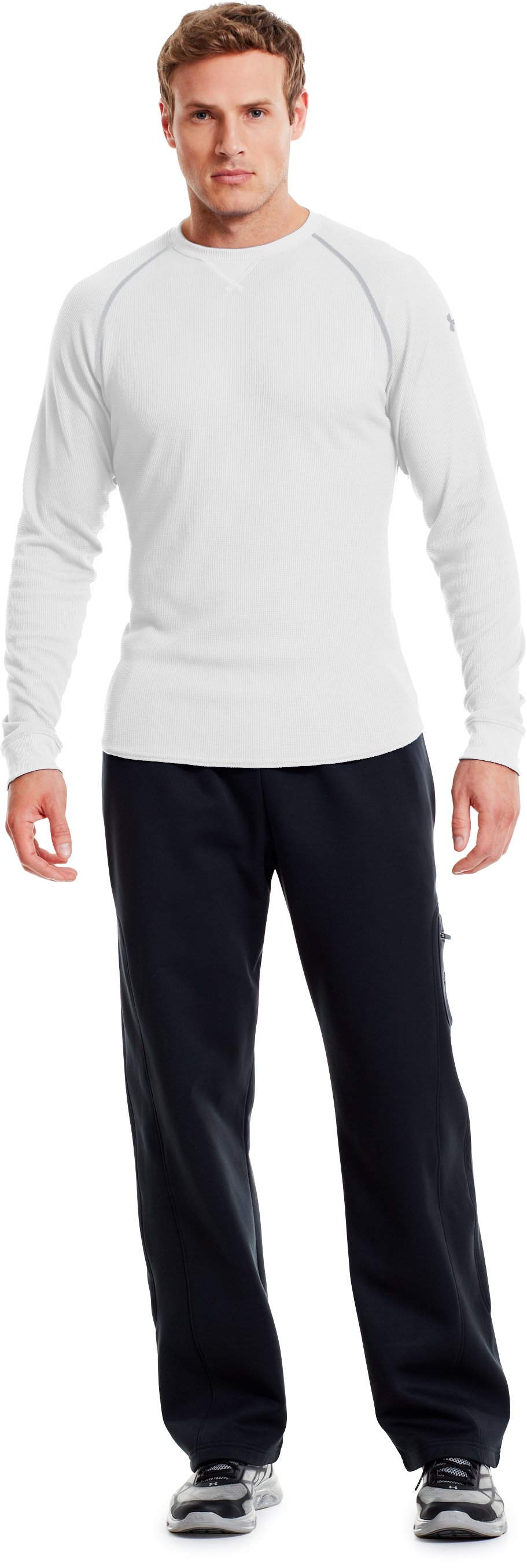 Men's UA Thermal 2.0 Crew Shirt, White, Front