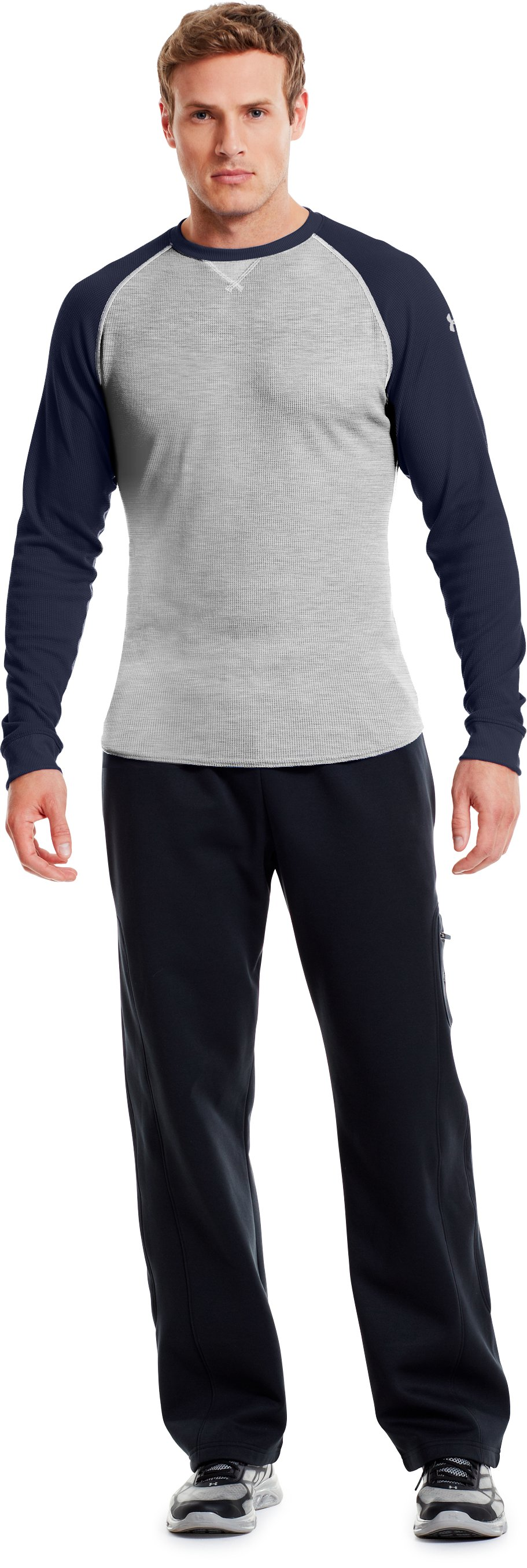 Men's UA Thermal 2.0 Crew Shirt, Silver Heather, Front