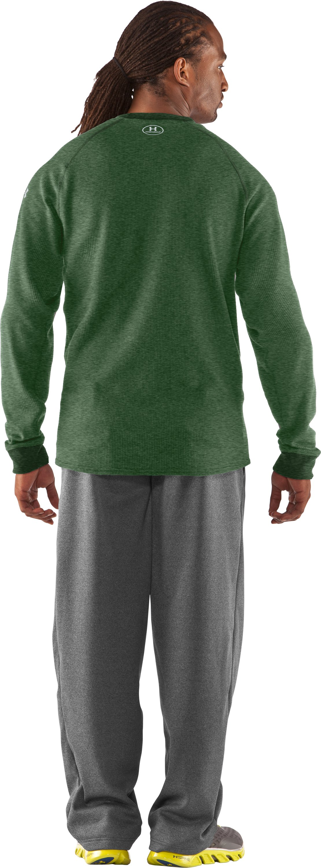 Men's UA Thermal 2.0 Crew Shirt, Forest Green, Back