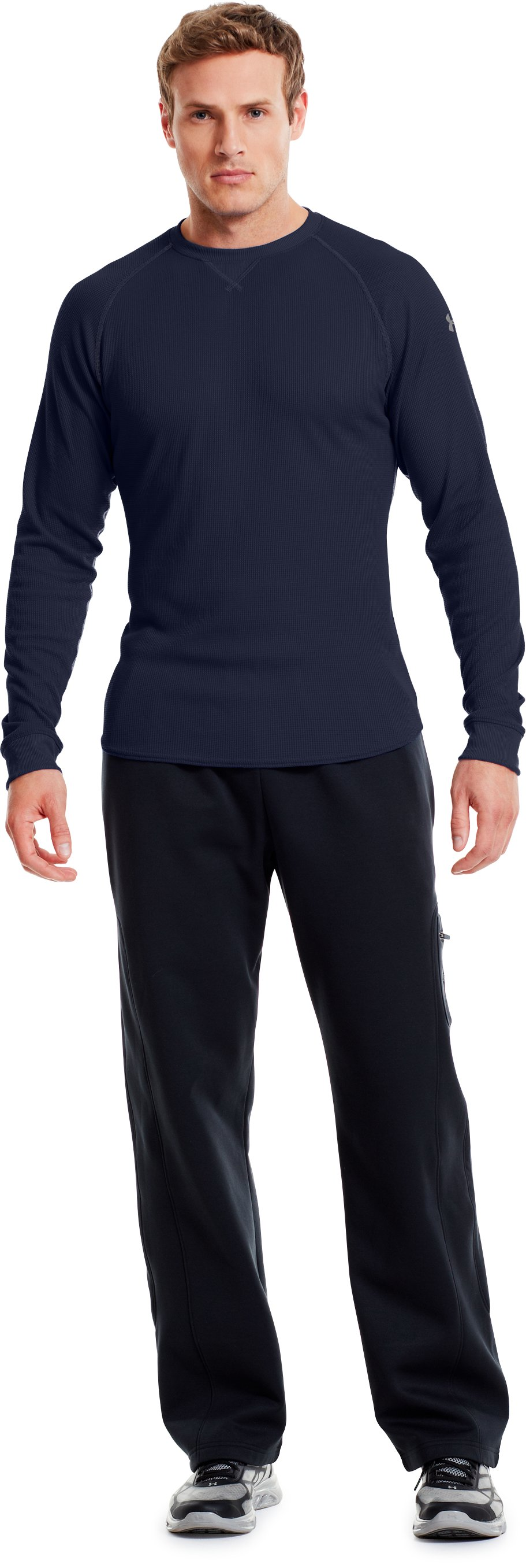 Men's UA Thermal 2.0 Crew Shirt, Midnight Navy, Front