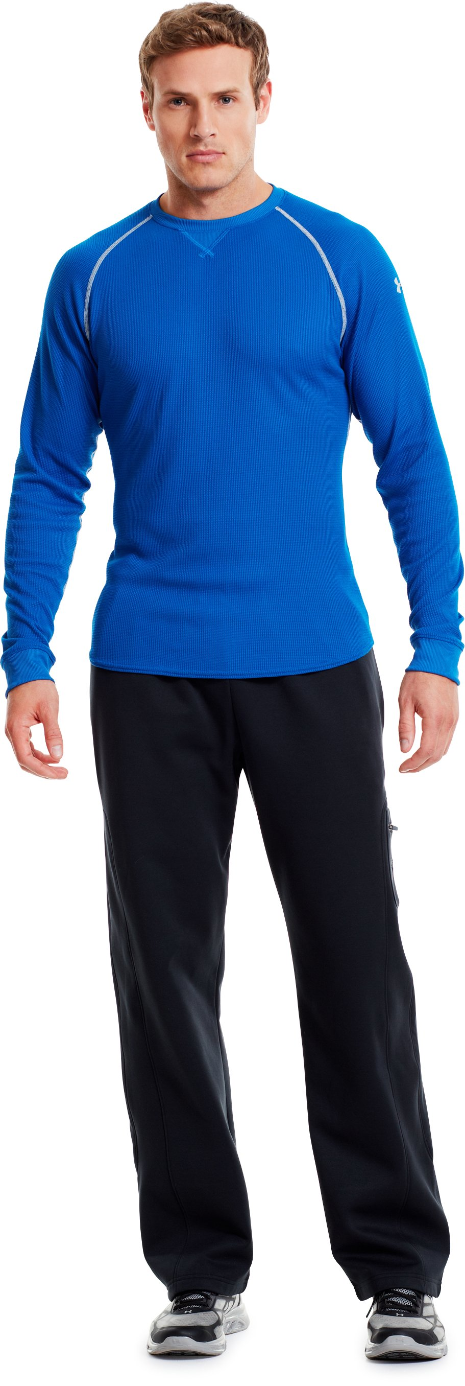 Men's UA Thermal 2.0 Crew Shirt, Moon Shadow, Front
