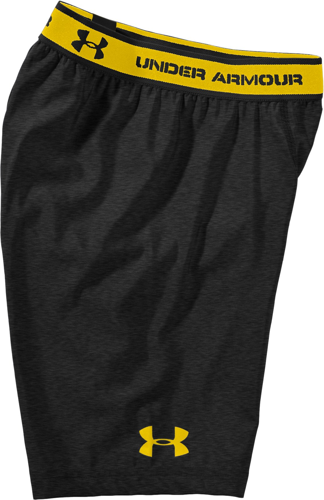 "Men's HeatGear® Compression 7"" Shorts, Asphalt Heather, Laydown"