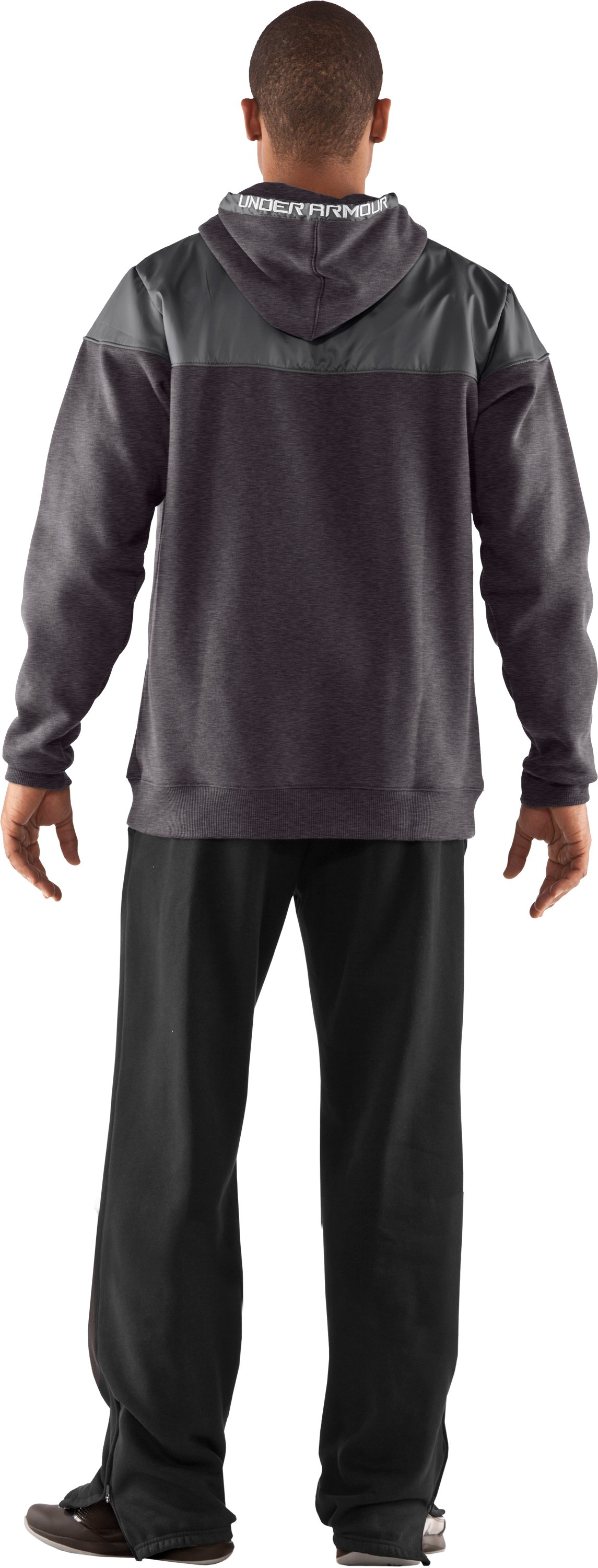 Men's UA Call Me Hoodie, Carbon Heather, Back