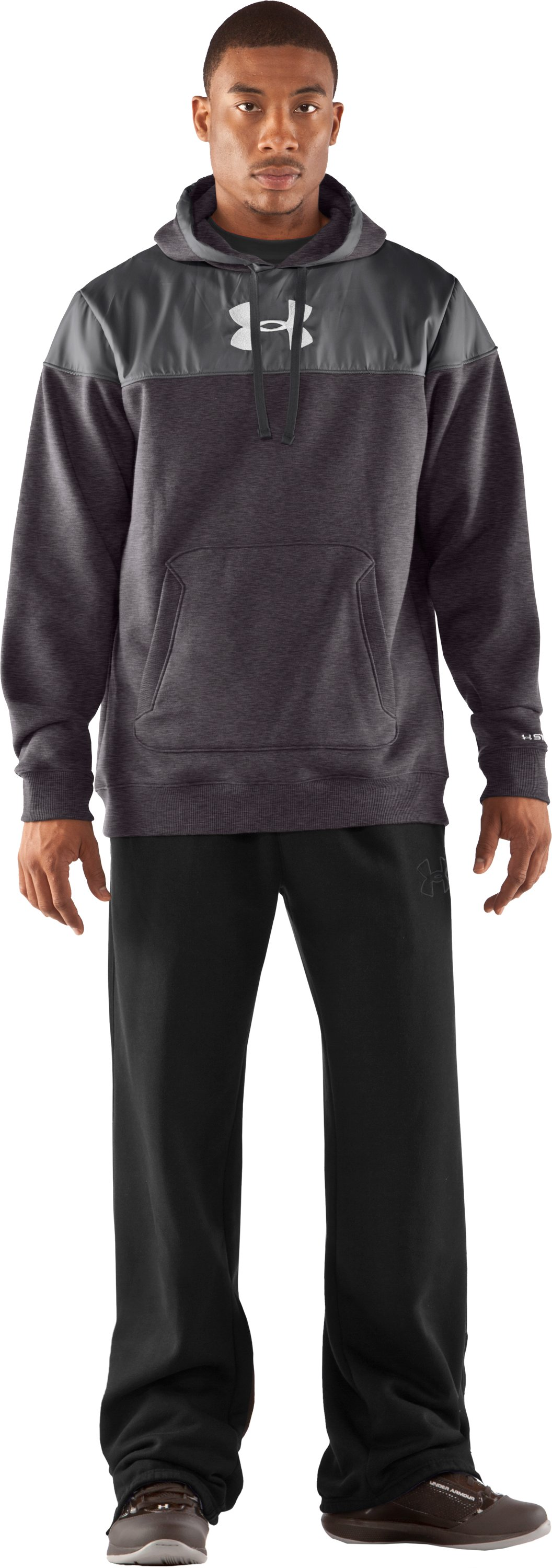 Men's UA Call Me Hoodie, Carbon Heather, Front