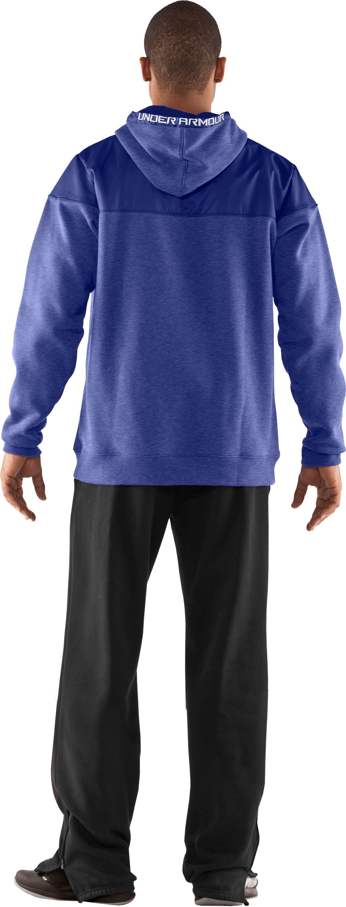 Men's UA Call Me Hoodie, Royal, Back