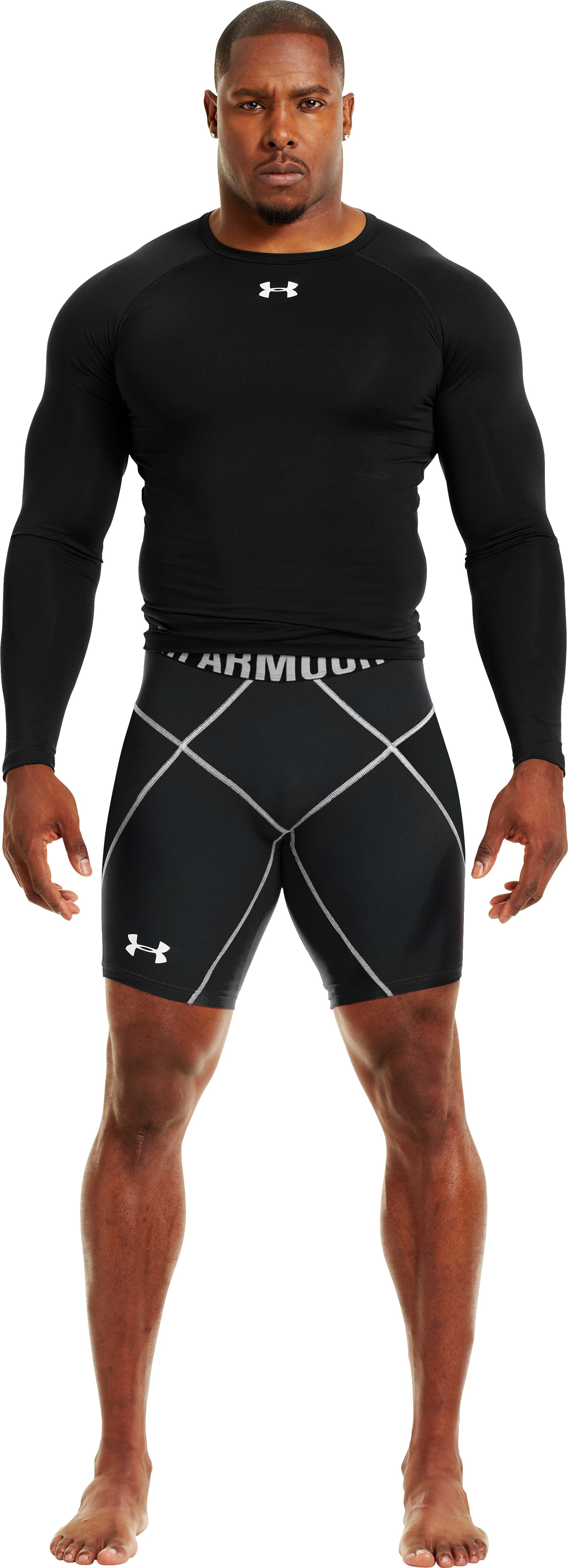 "Men's UA 9"" Coreshorts Prima, Black , Front"