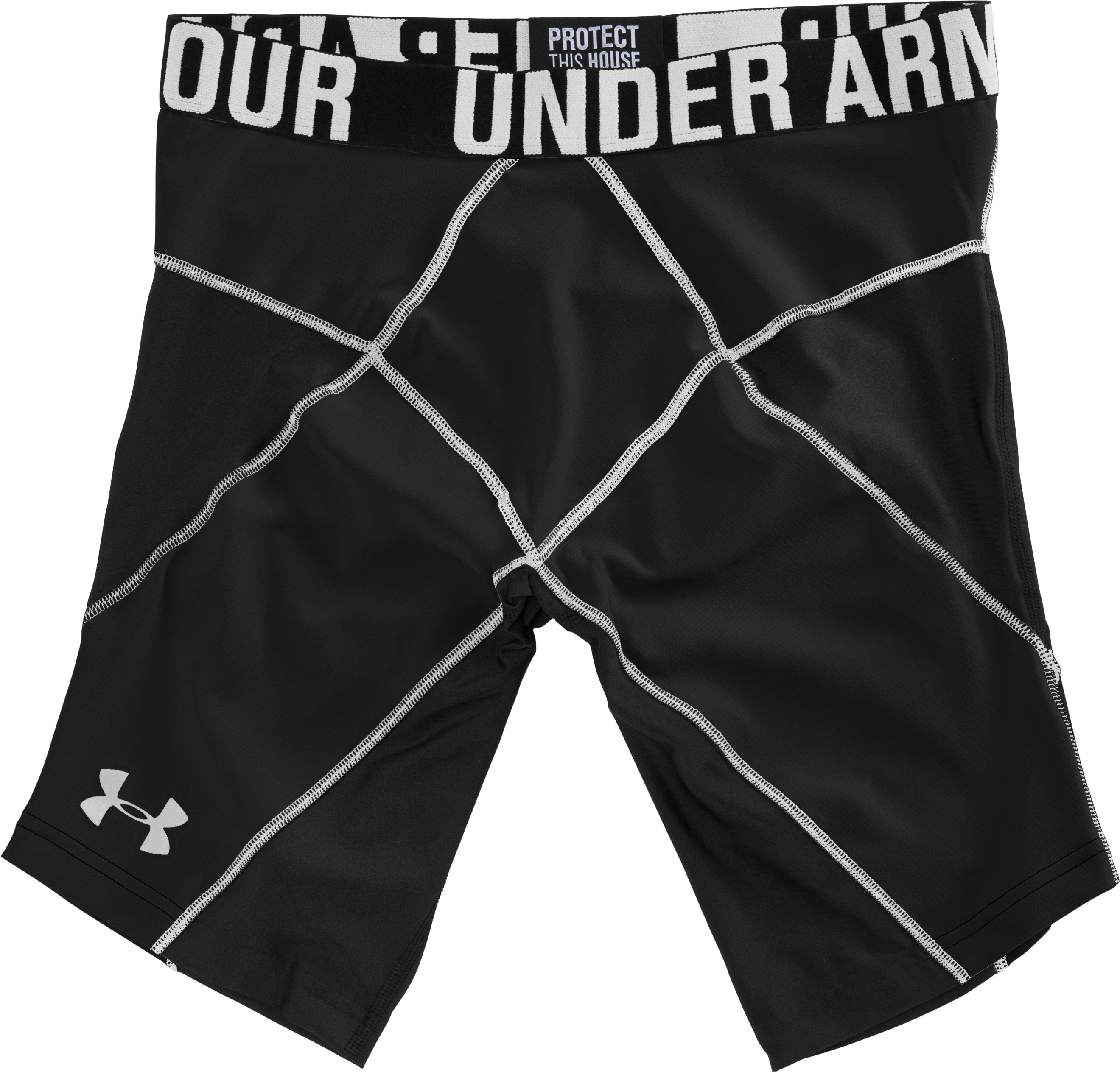 "Men's UA 9"" Coreshorts Prima, Black , Laydown"
