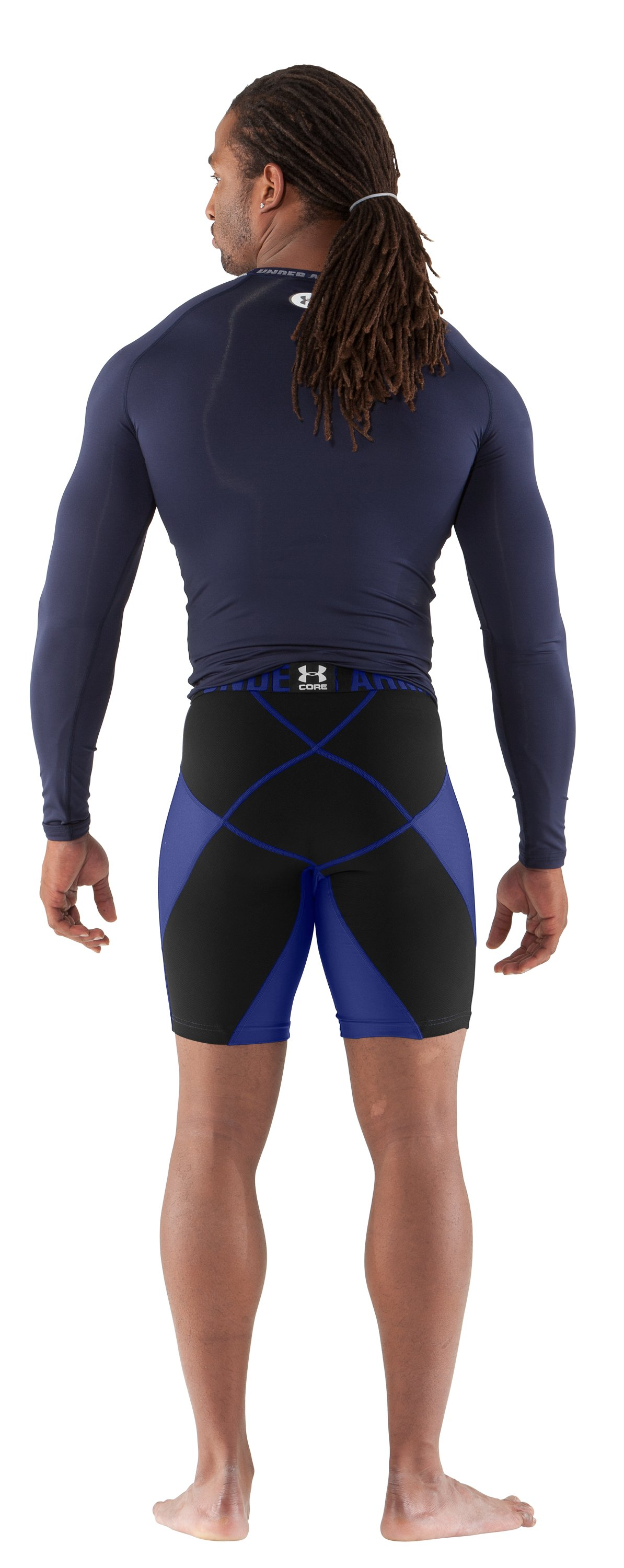 "Men's UA 9"" Coreshorts Prima, Royal, Back"