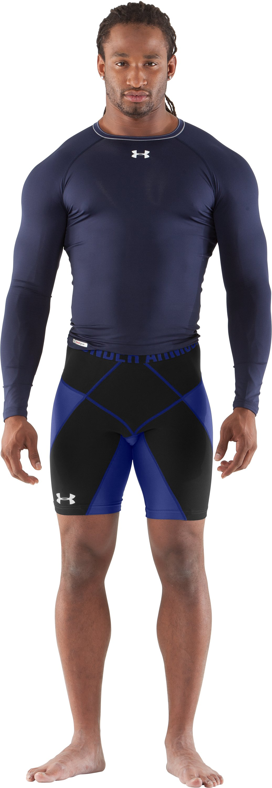 "Men's UA 9"" Coreshorts Prima, Royal, Front"