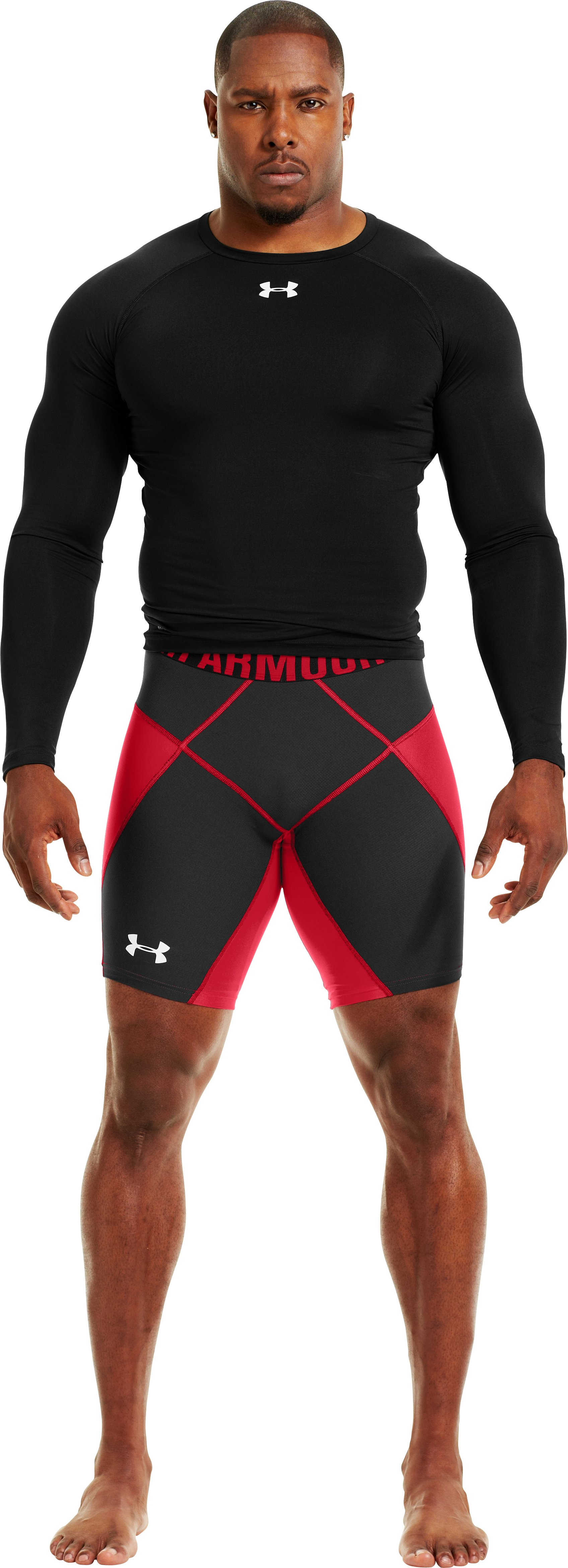 "Men's UA 9"" Coreshorts Prima, Red, zoomed image"
