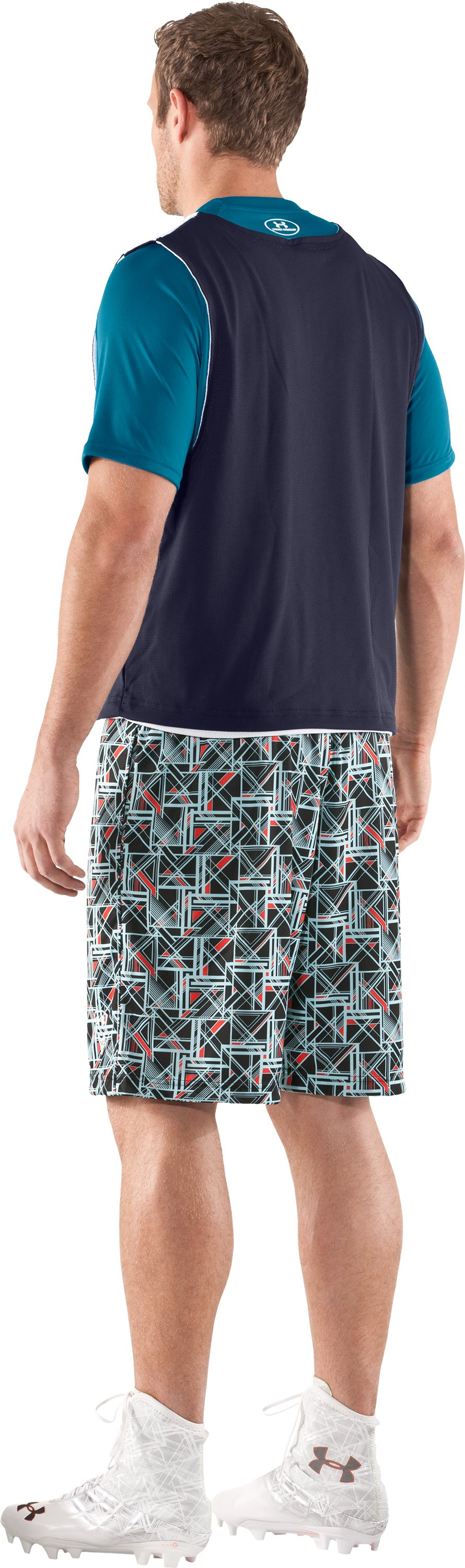 "Men's UA Howie Dewdat 10"" LAX Shorts, Black , Back"