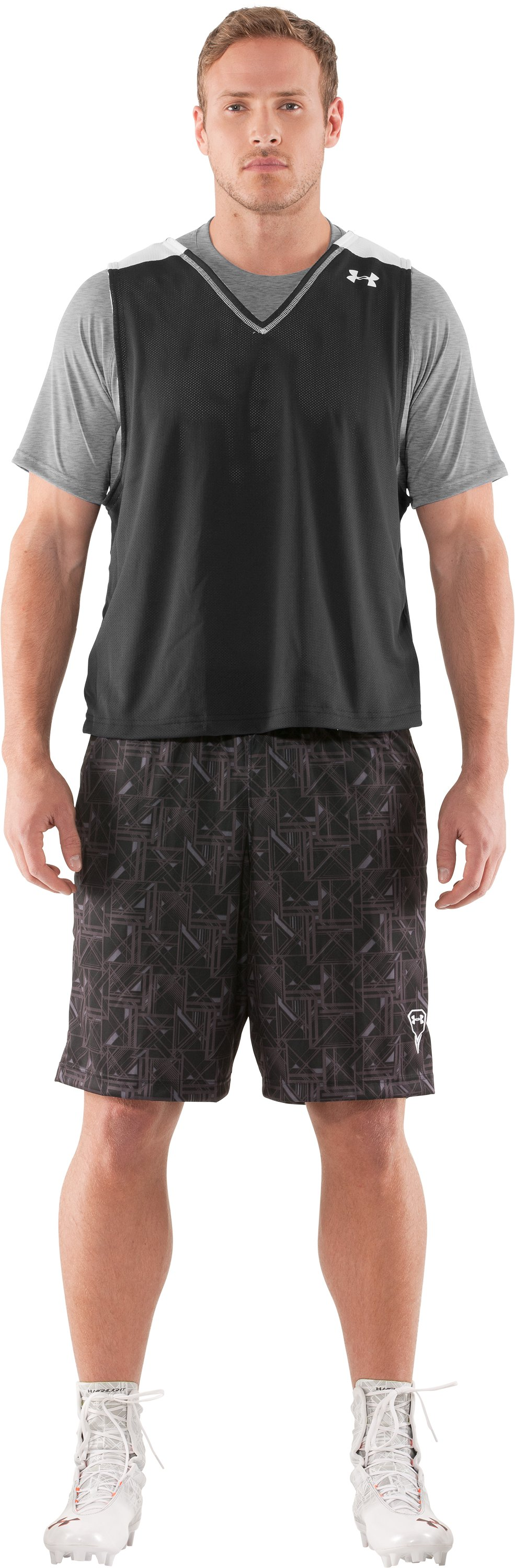 "Men's UA Howie Dewdat 10"" LAX Shorts, Black , Front"