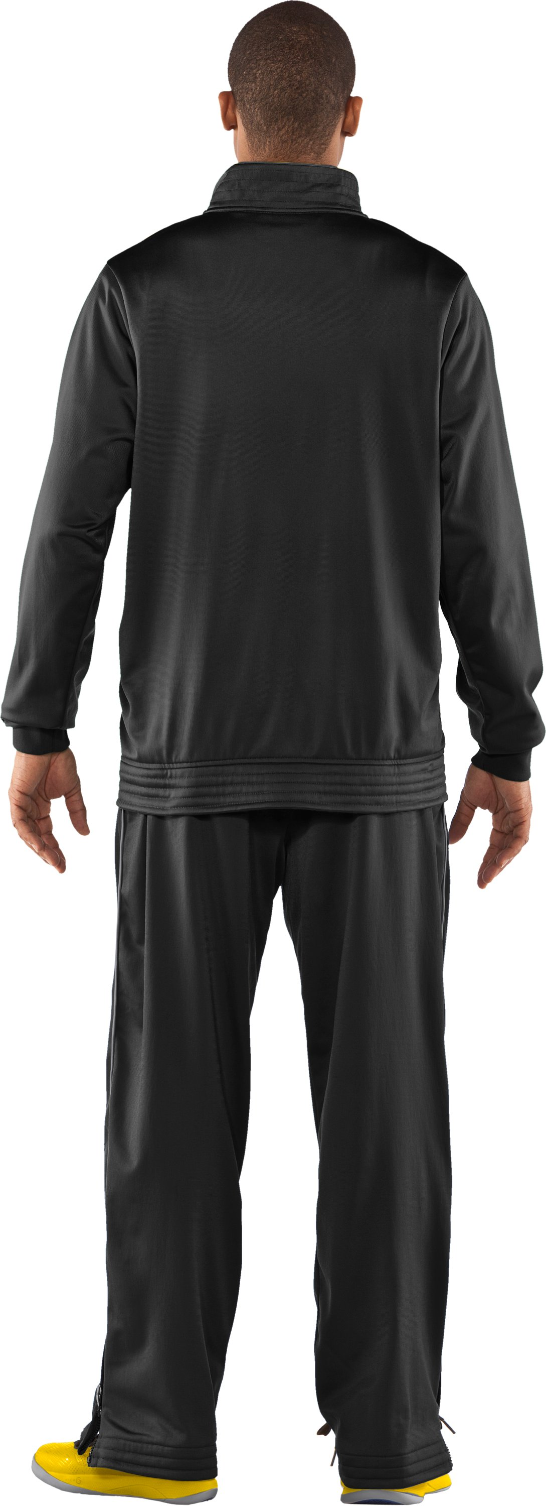 Men's UA Bedstock Warm-Up Jacket, Black , Back