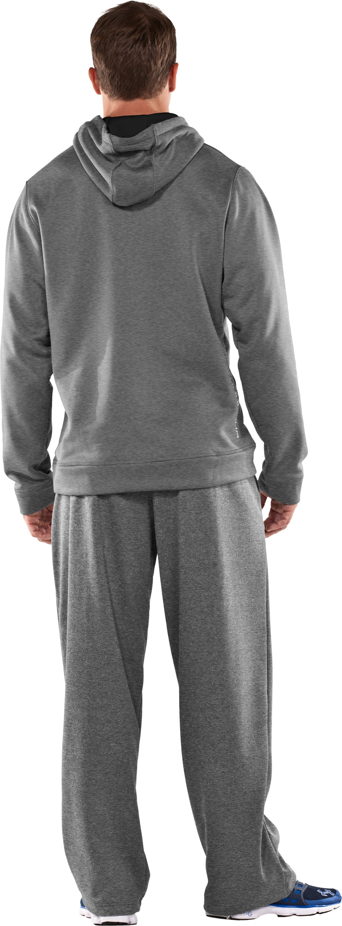 Men's Armour® Fleece Storm Big Logo Hoodie, True Gray Heather, Back