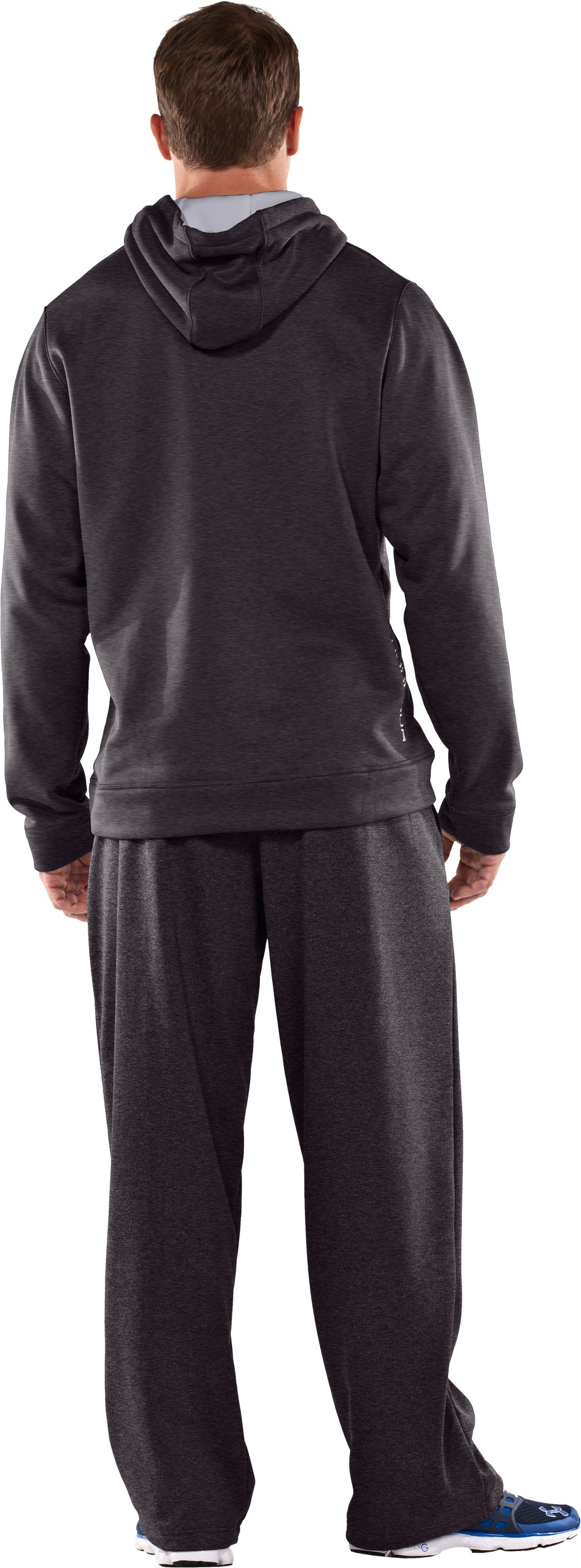 Men's Armour® Fleece Storm Big Logo Hoodie, Carbon Heather, Back