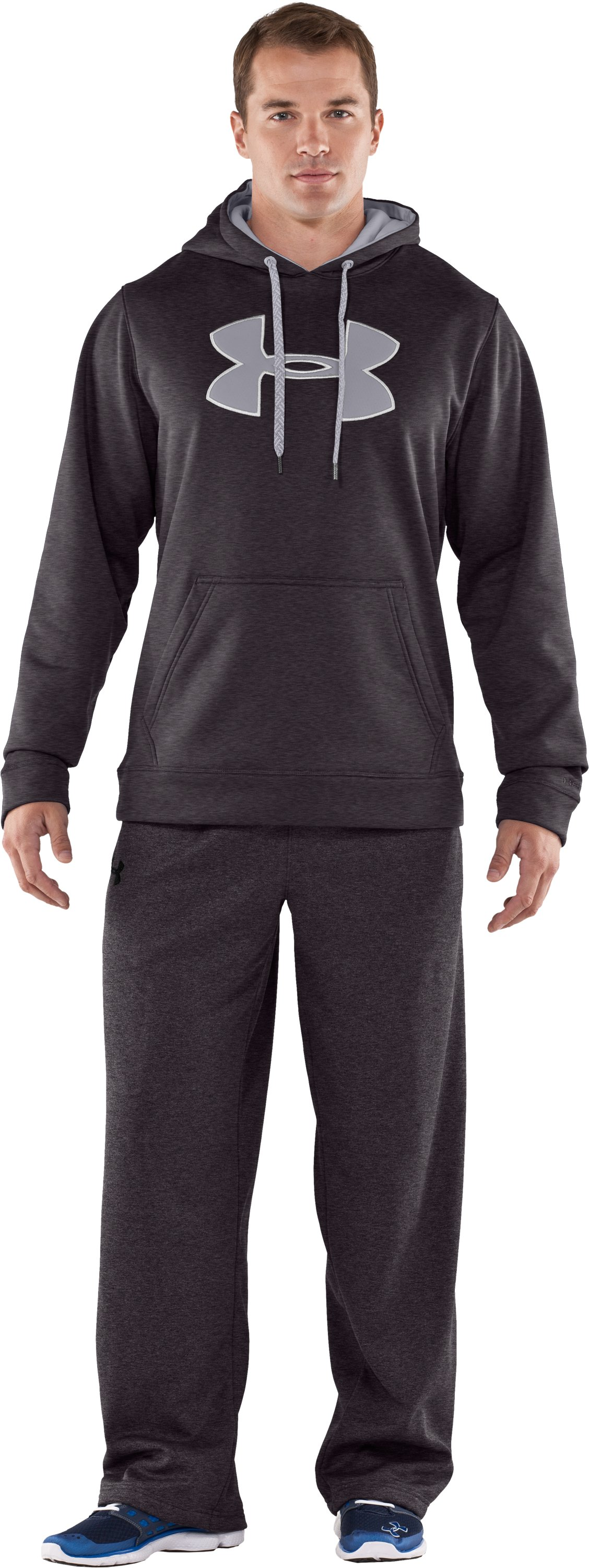 Men's Armour® Fleece Storm Big Logo Hoodie, Carbon Heather, zoomed image