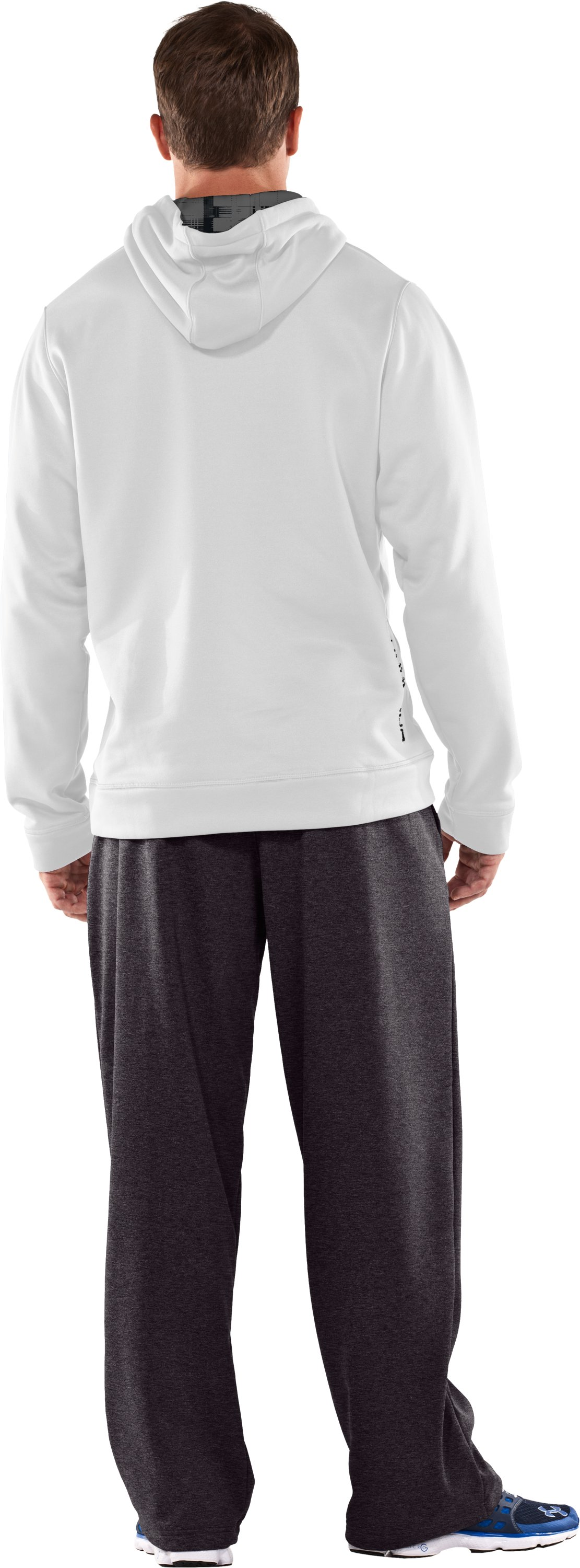 Men's Armour® Fleece Storm Big Logo Hoodie, White, Back