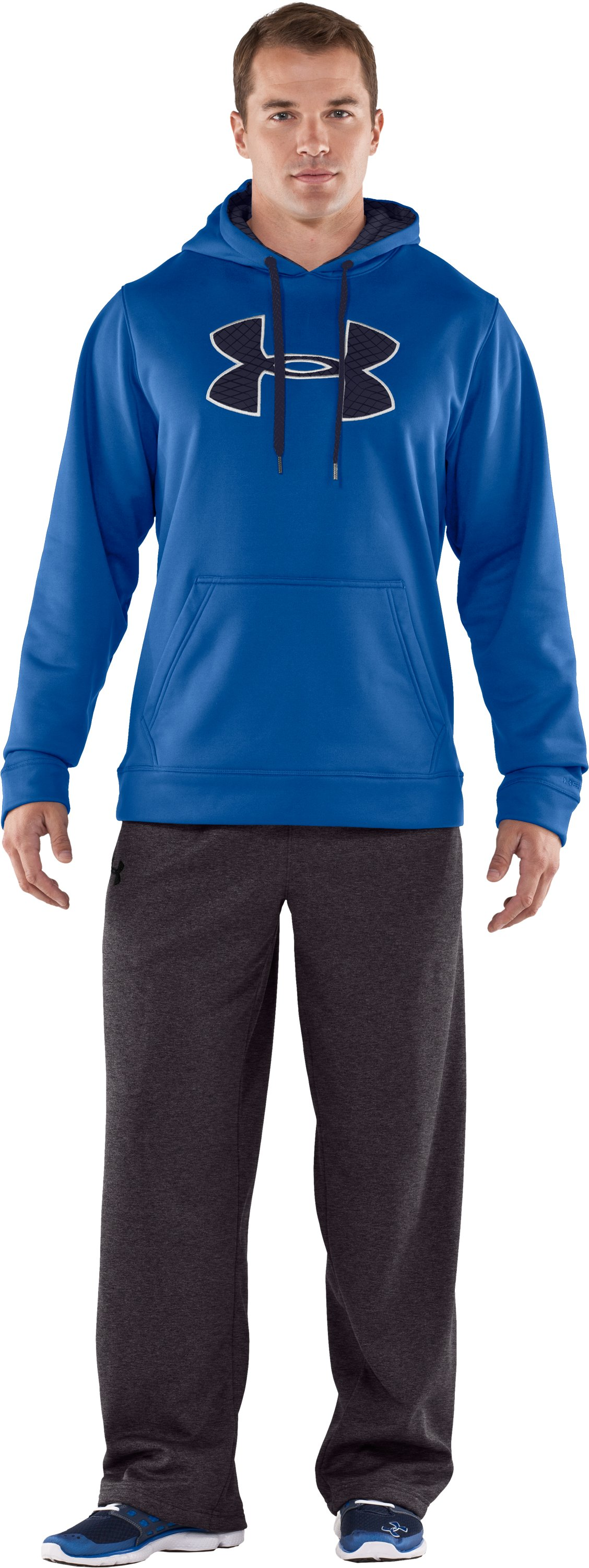 Men's Armour® Fleece Storm Big Logo Hoodie, Squadron
