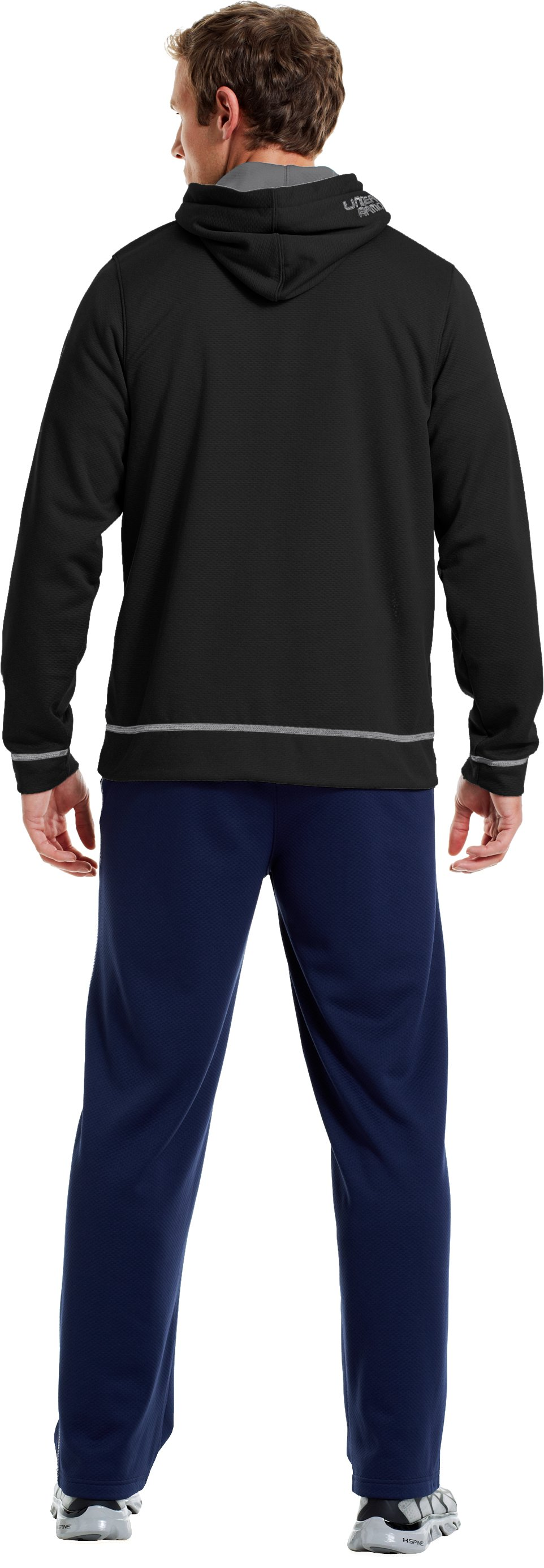 Men's UA Tech™ Fleece Pullover Hoodie, Black , Back