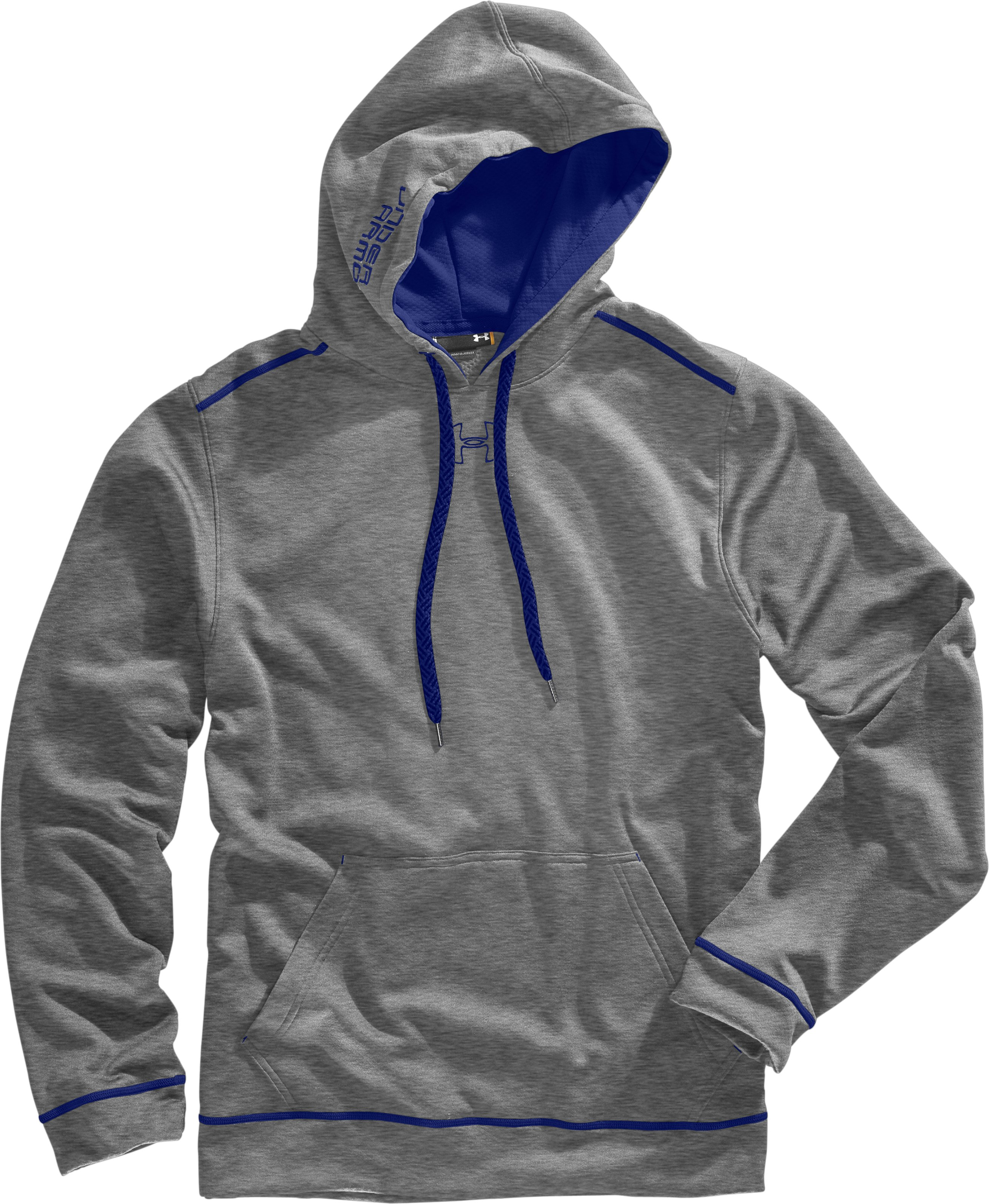 Men's UA Tech™ Fleece Pullover Hoodie, True Gray Heather, Laydown