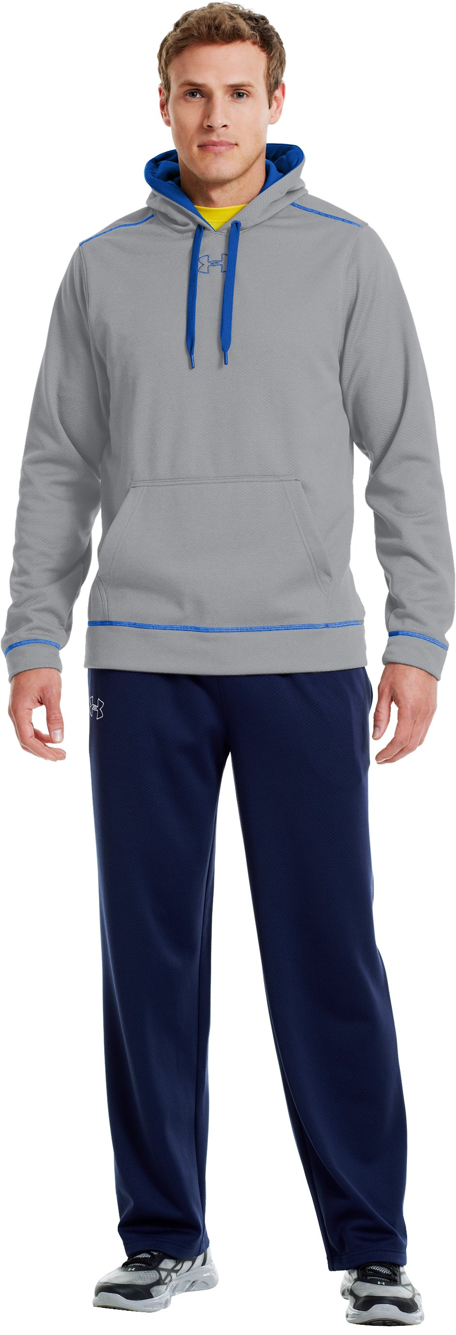 Men's UA Tech™ Fleece Pullover Hoodie, Elemental, zoomed image
