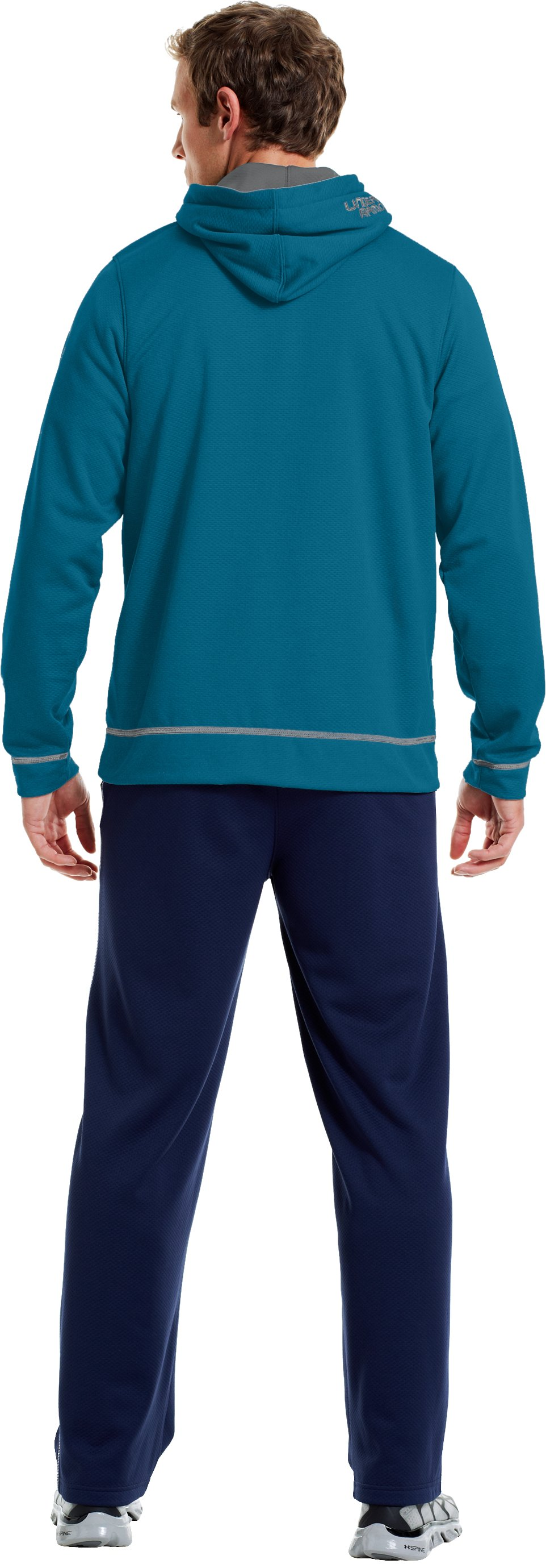 Men's UA Tech™ Fleece Pullover Hoodie, TRAPLINE, Back