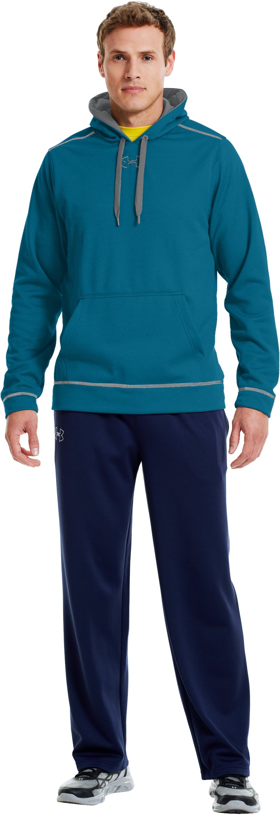 Men's UA Tech™ Fleece Pullover Hoodie, TRAPLINE, Front