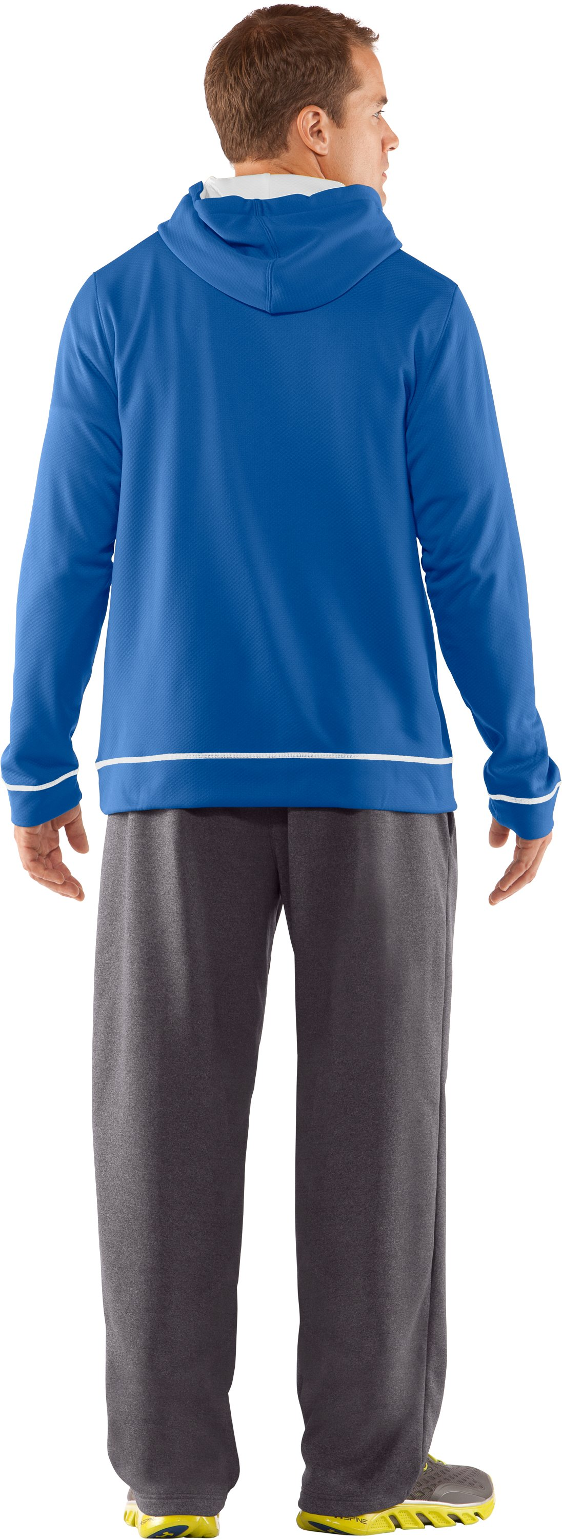 Men's UA Tech™ Fleece Pullover Hoodie, Squadron, Back