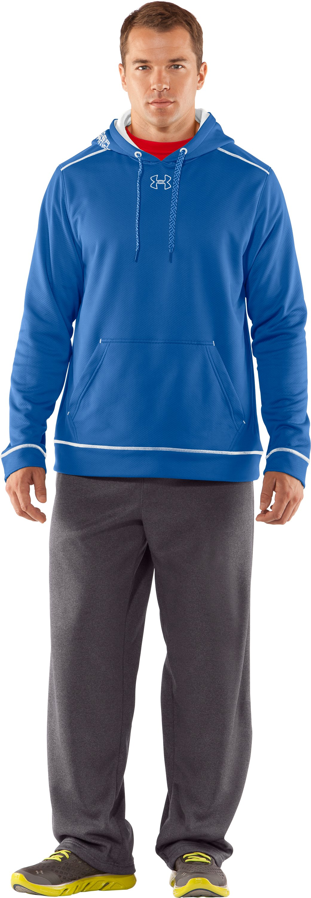Men's UA Tech™ Fleece Pullover Hoodie, Squadron, Front