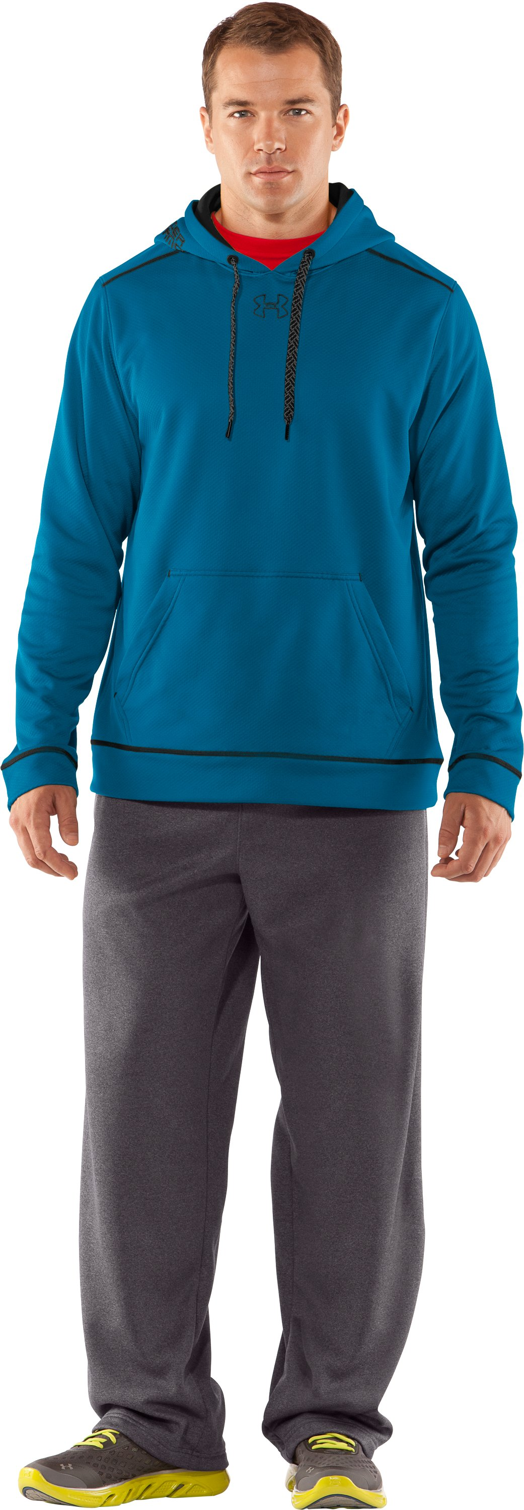 Men's UA Tech™ Fleece Pullover Hoodie, SNORKEL, Front