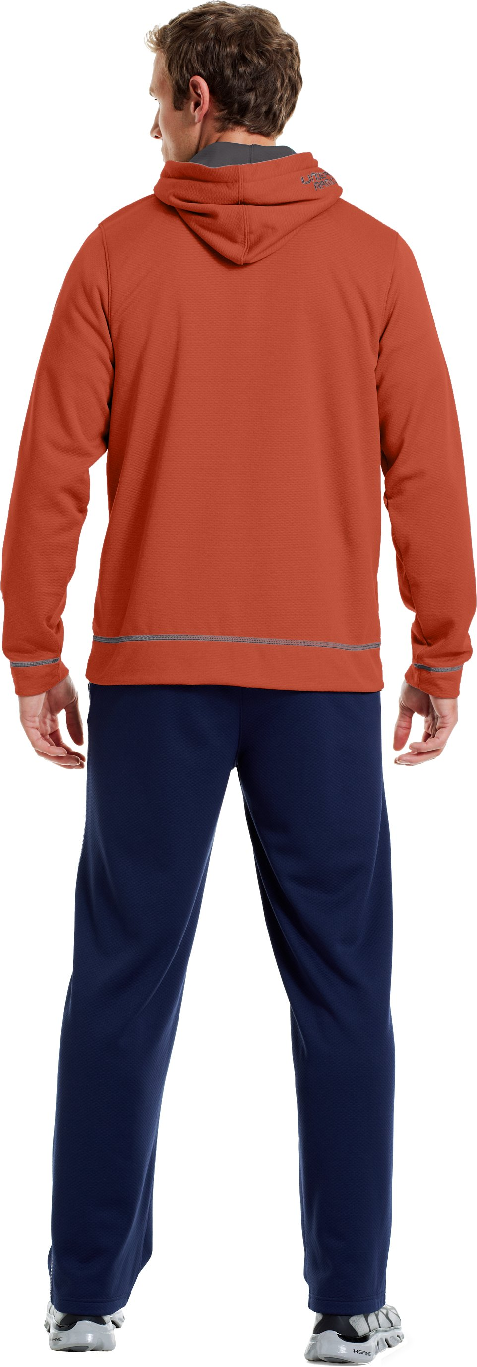 Men's UA Tech™ Fleece Pullover Hoodie, Fox, Back