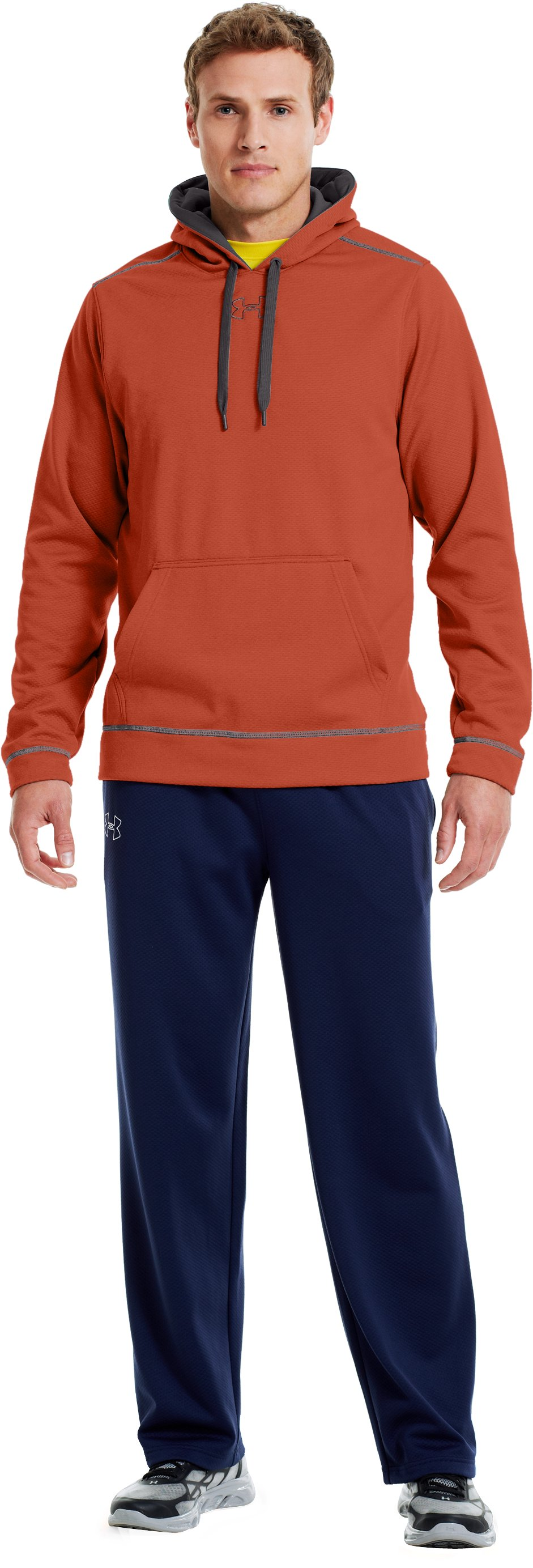 Men's UA Tech™ Fleece Pullover Hoodie, Fox, zoomed image