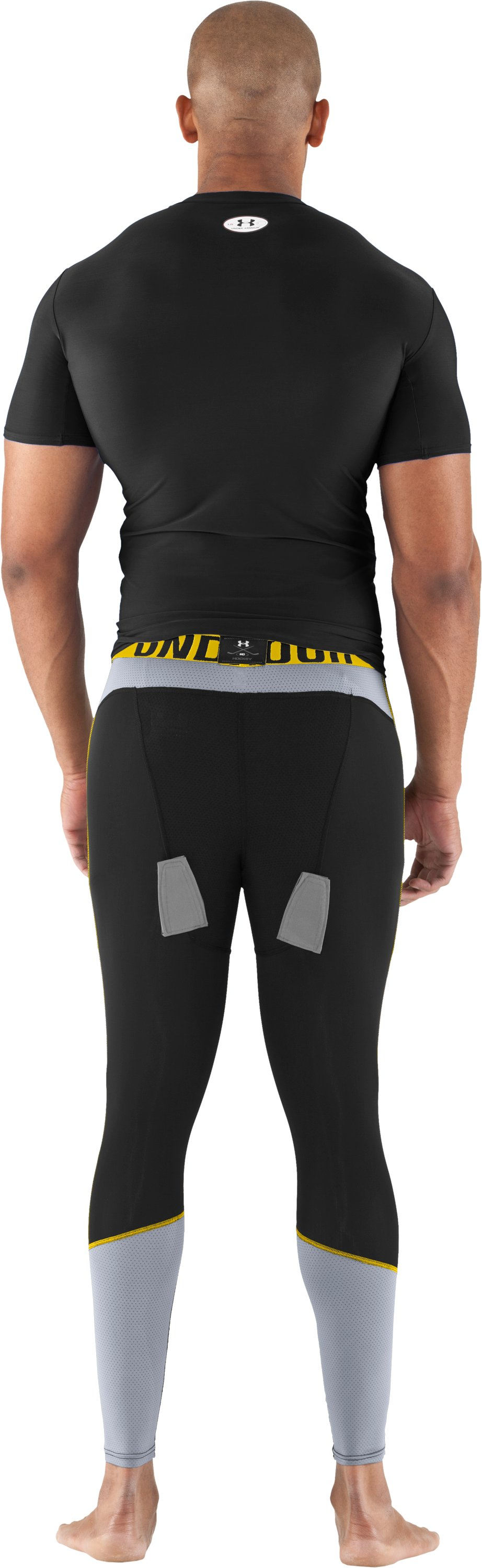Men's UA Hockey Compression Leggings, Black , Back