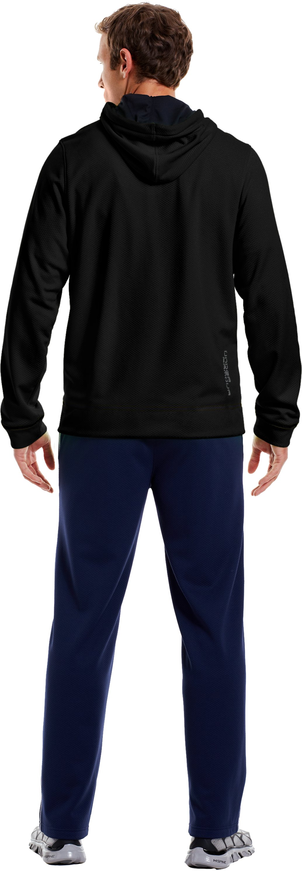 Men's UA Tech™ Fleece Full Zip Hoodie, Black , Back