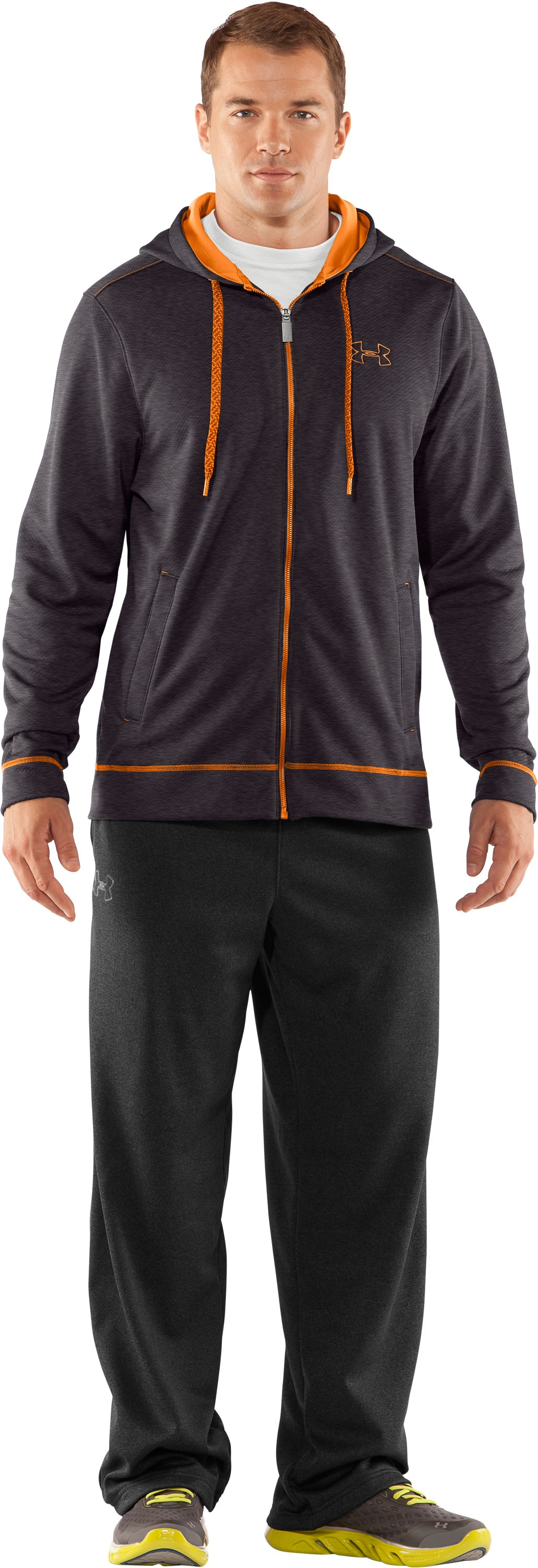 Men's UA Tech™ Fleece Full Zip Hoodie, Carbon Heather
