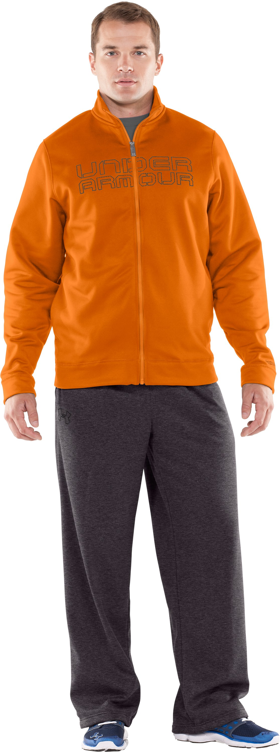 Men's Armour® Fleece Storm Full Zip Jacket, Radiate, Front