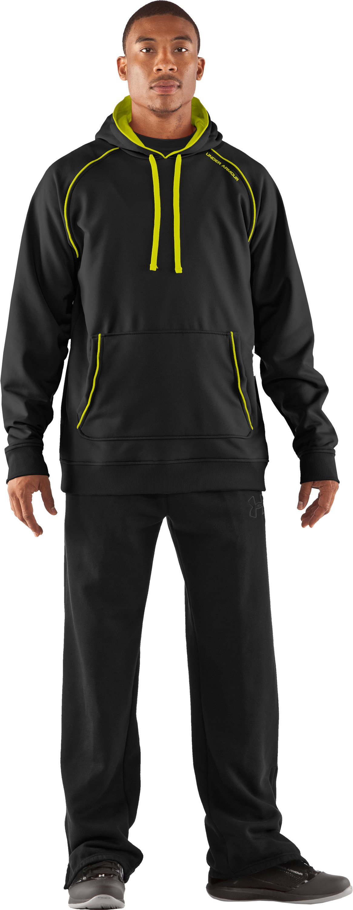 Men's Armour® Fleece Freshness Hoodie, Black , Front