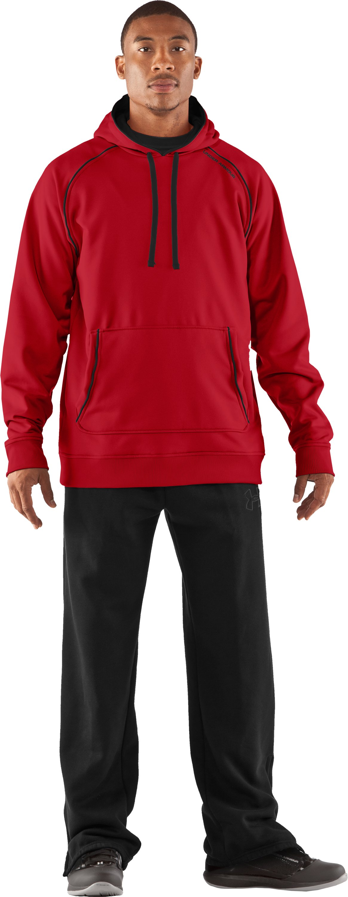 Men's Armour® Fleece Freshness Hoodie, Red, Front