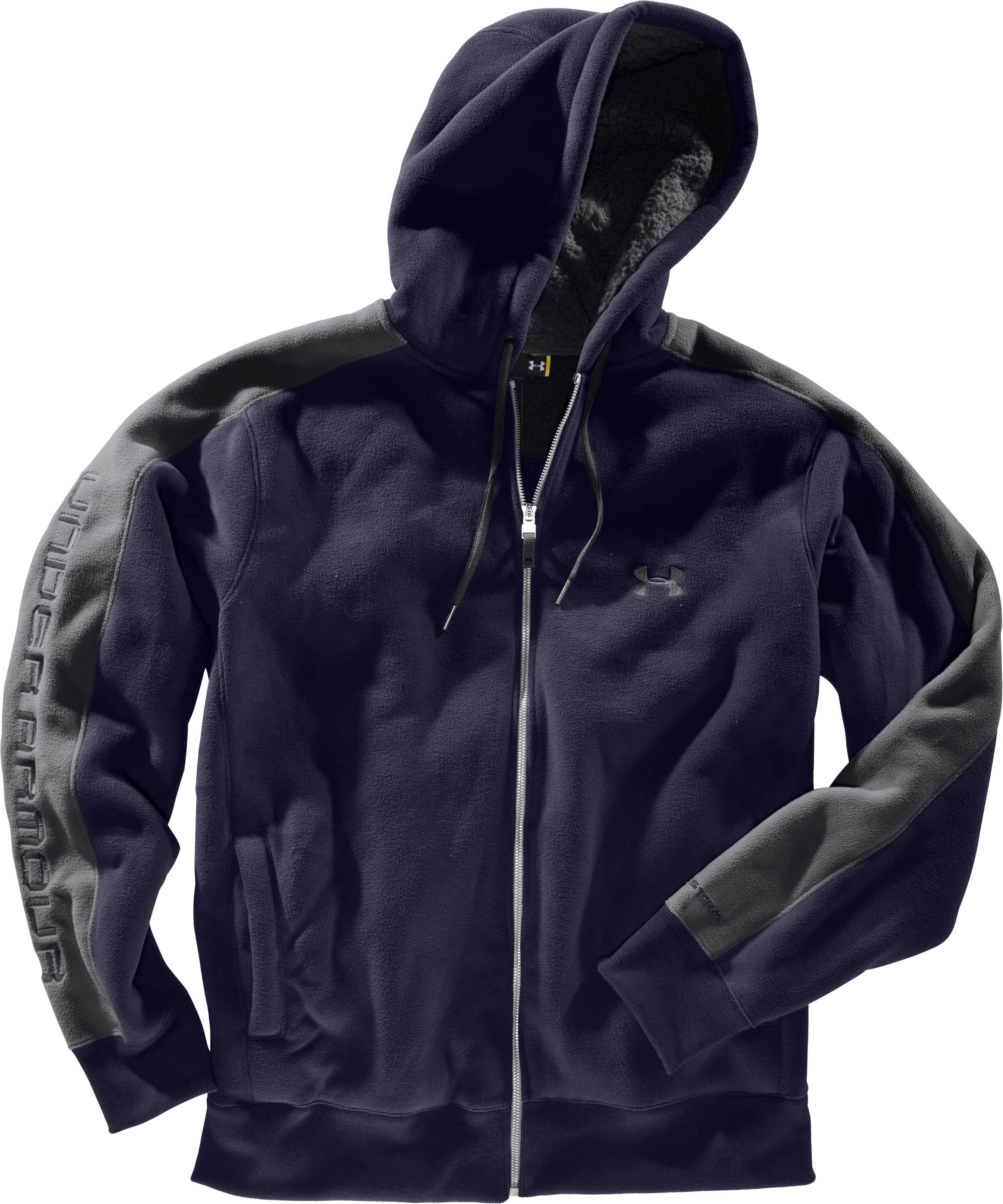 Men's UA Sherpa Hoodie, Midnight Navy, Laydown