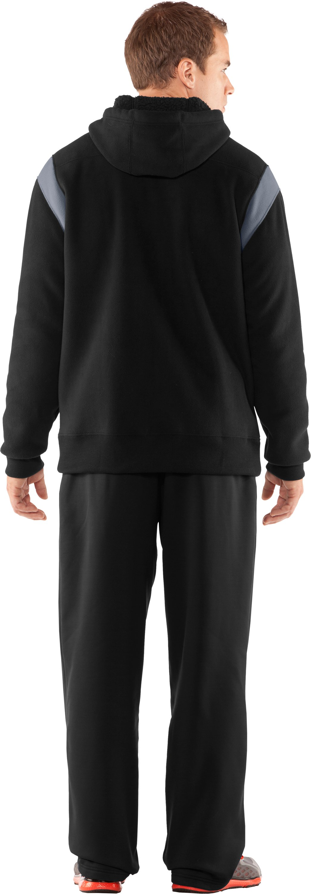 Men's UA Sherpa Big Logo Hoodie, Black , Back