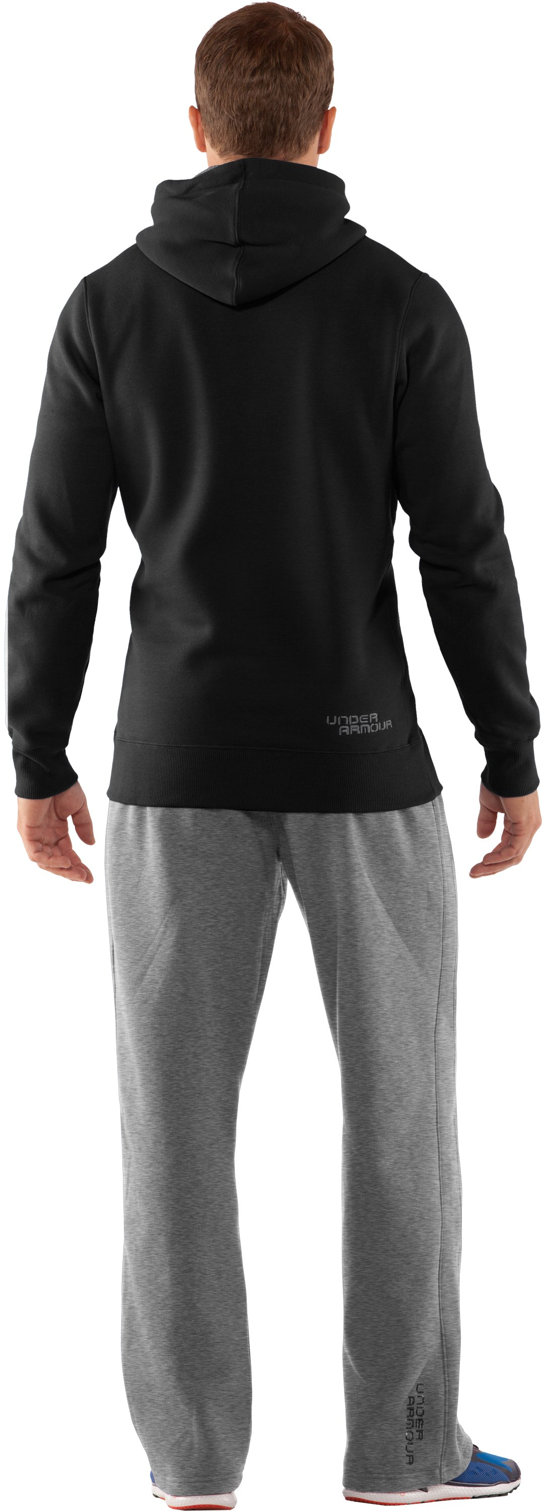Men's Charged Cotton® Storm Pullover Hoodie, Black , Back