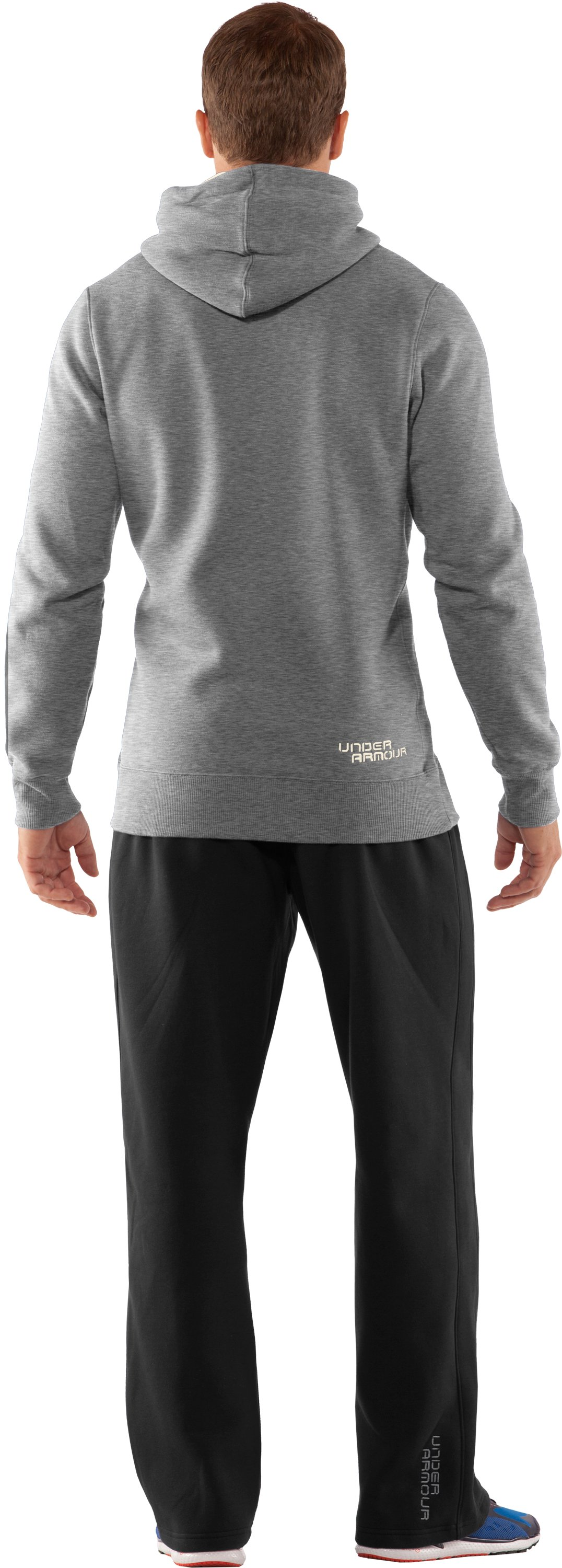 Men's Charged Cotton® Storm Pullover Hoodie, True Gray Heather, Back